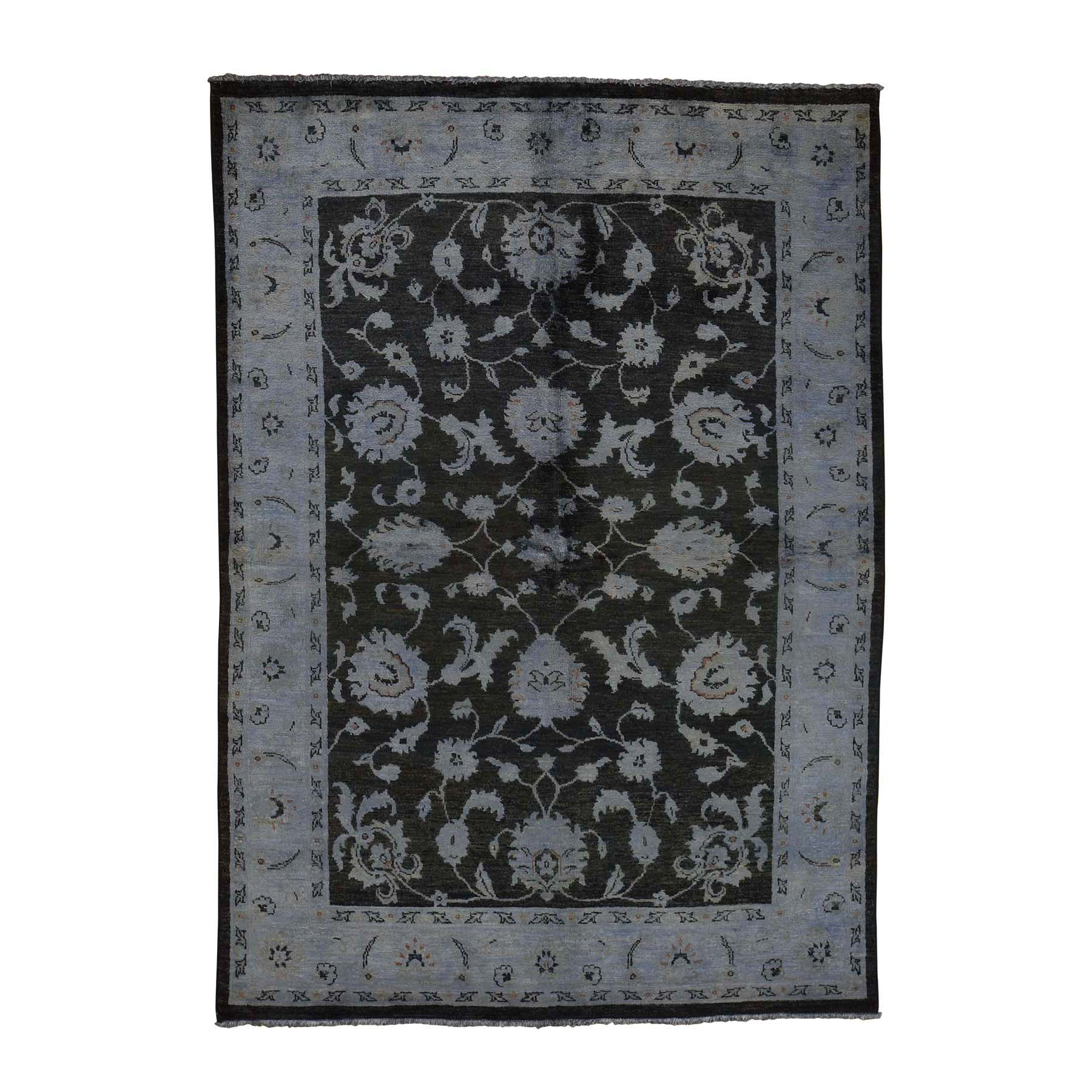 Agra And Turkish Collection Hand Knotted Black Rug No: 0179022