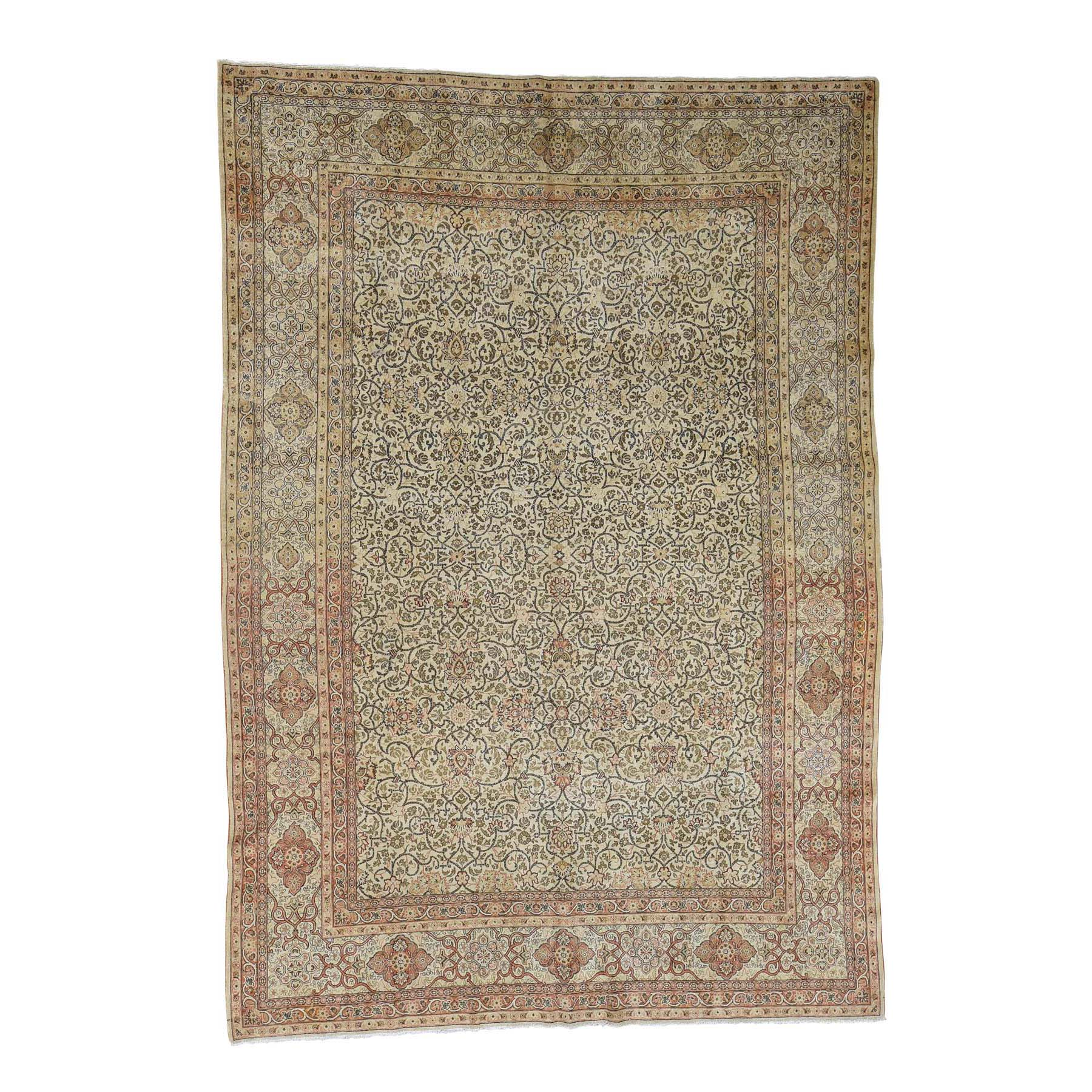 Antique Collection Hand Knotted Beige Rug No: 0179036