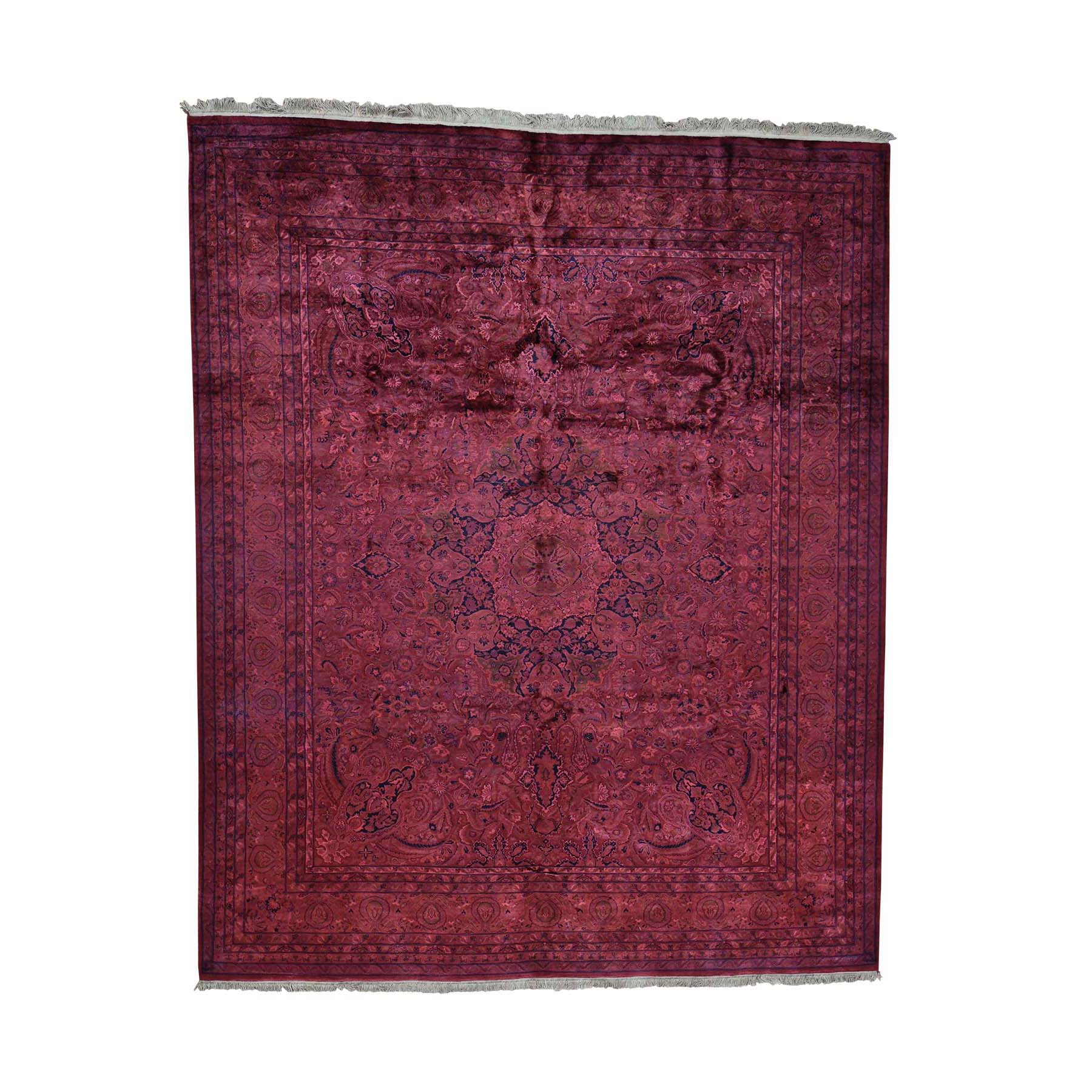 Fetneh Collection And Vintage Overdyed Collection Hand Knotted Red Rug No: 0179038