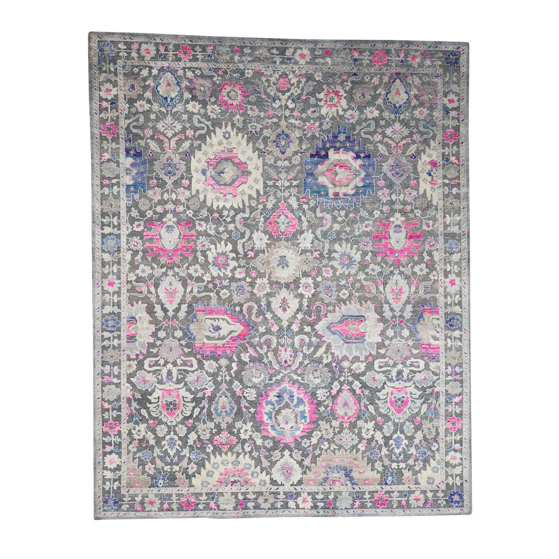 Agra And Turkish Collection Hand Knotted Grey Rug No: 0179182