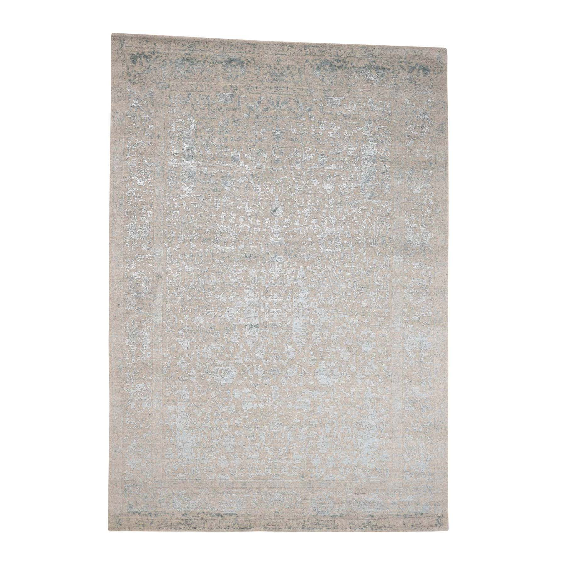Mid Century Modern Collection Hand Loomed Grey Rug No: 0179254