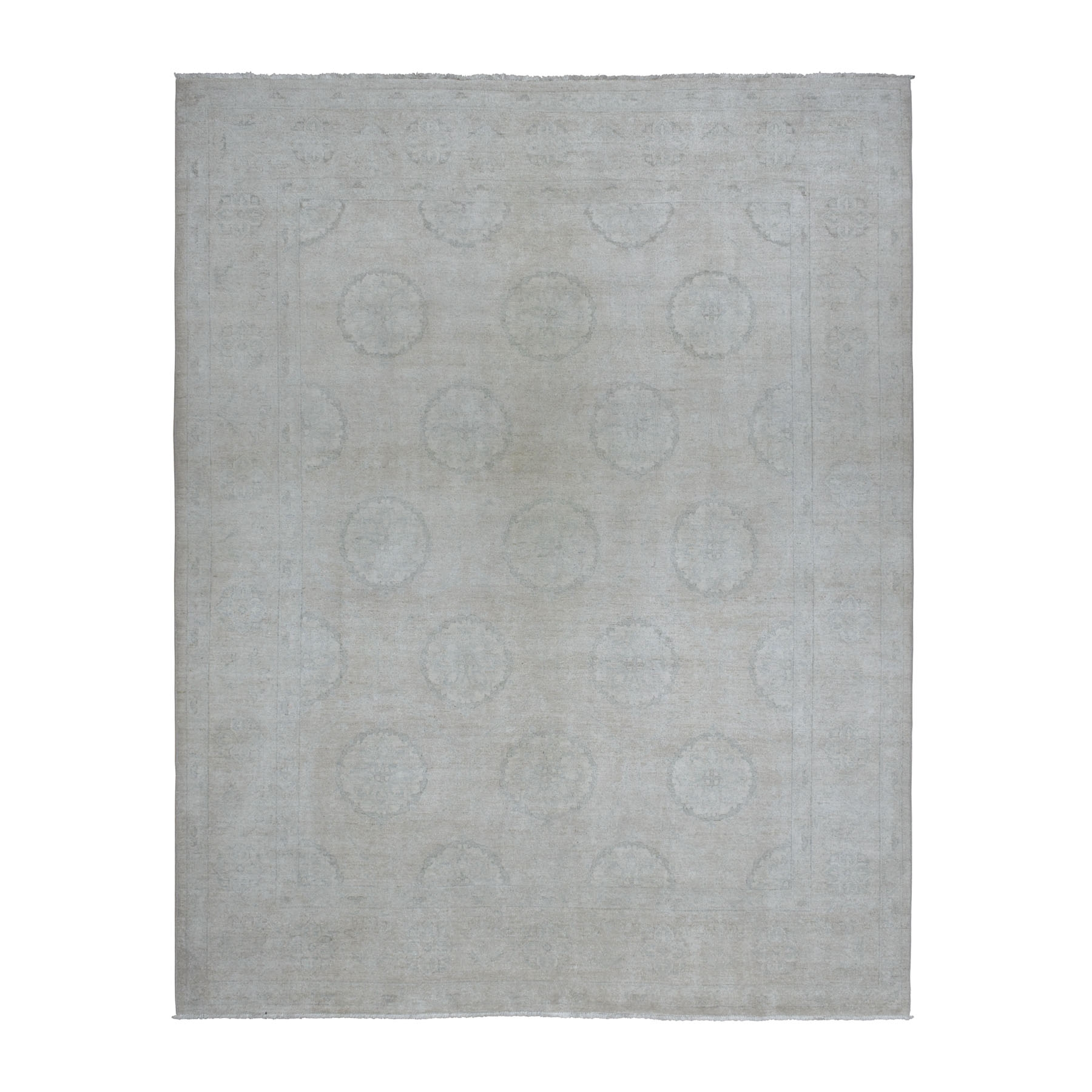 Agra And Turkish Collection Hand Knotted Ivory Rug No: 1108782