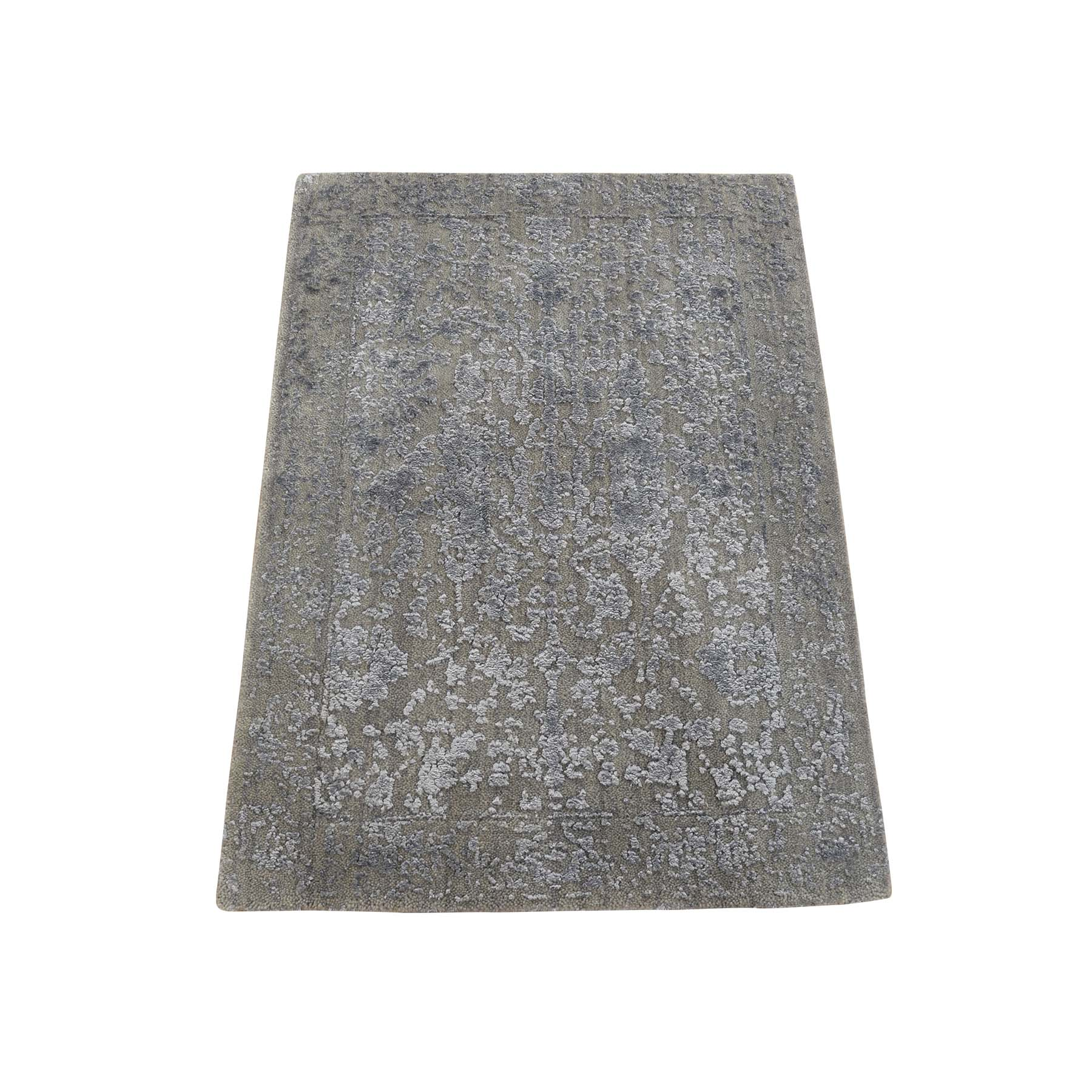 Modern Collection Hand Loomed Grey Rug No: 0179464