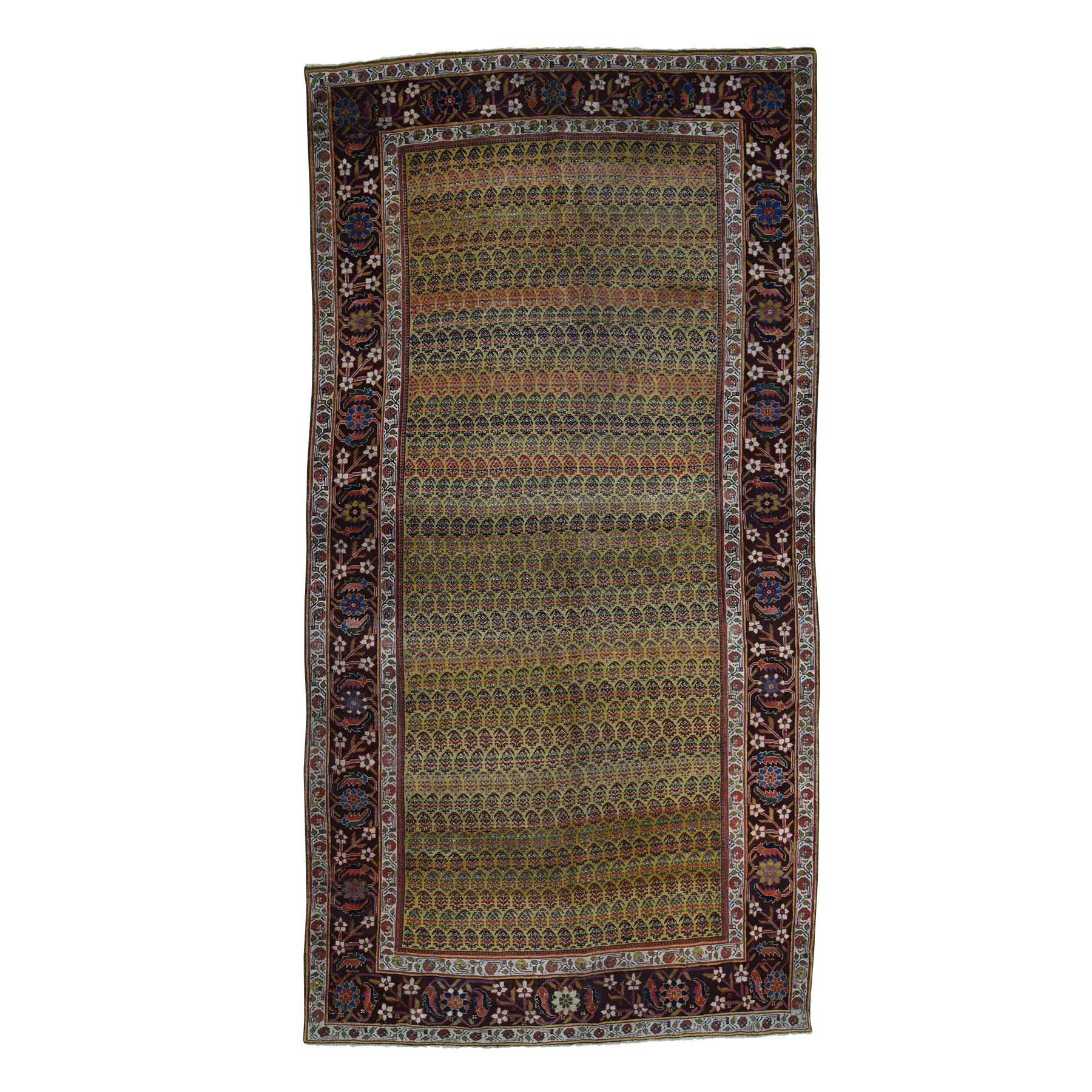 Antique Collection Hand Knotted Yellow Rug No: 0179686