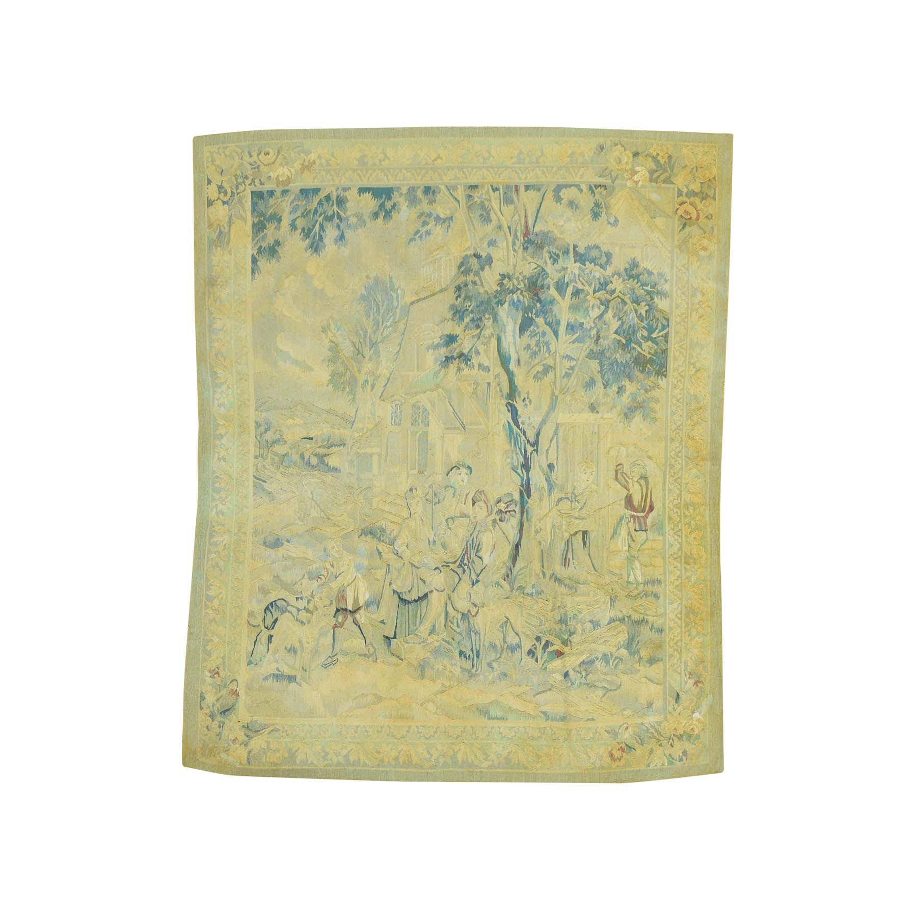Elegant European Collection Hand Woven Beige Rug No: 164438