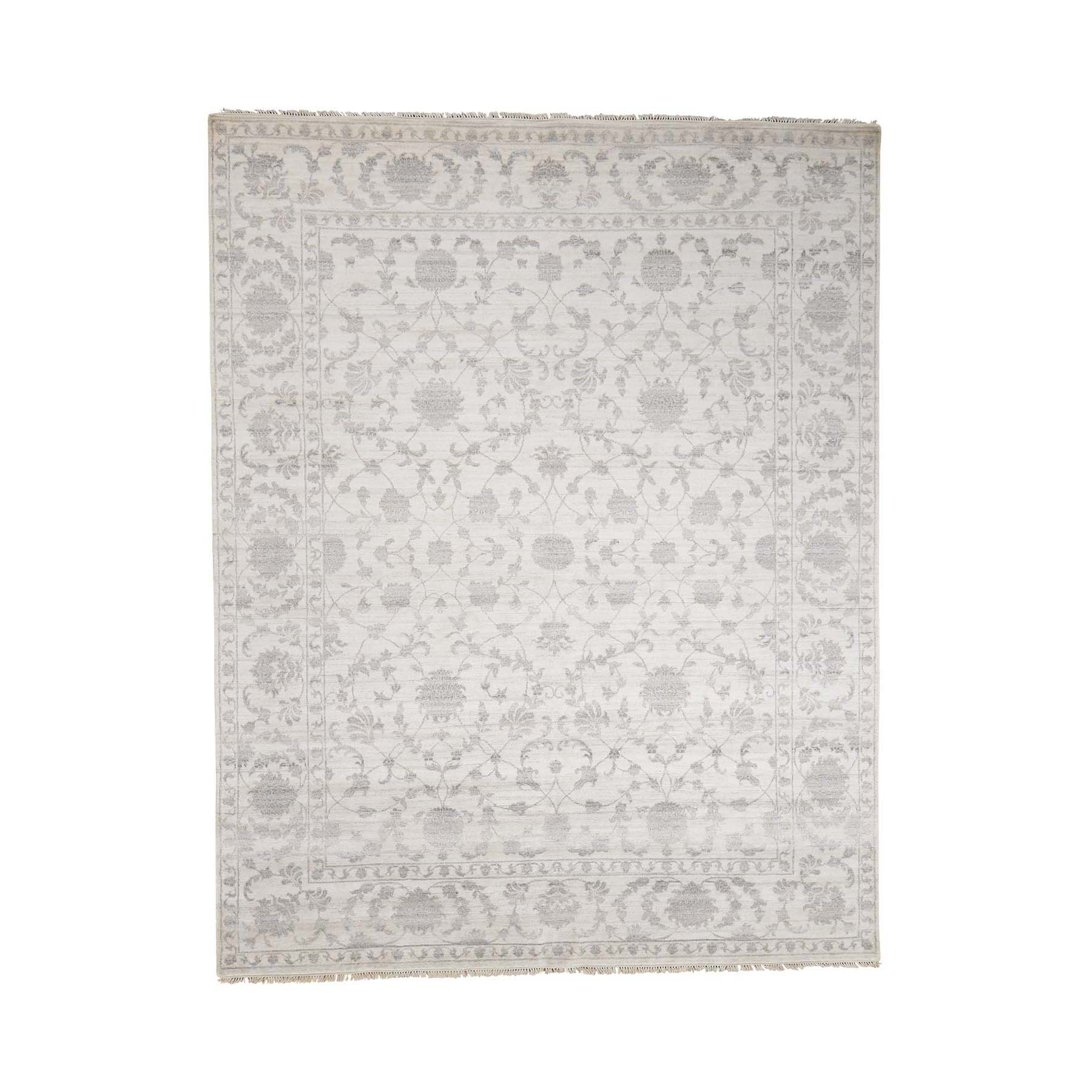 Transitional Collection Hand Knotted Beige Rug No: 0179946