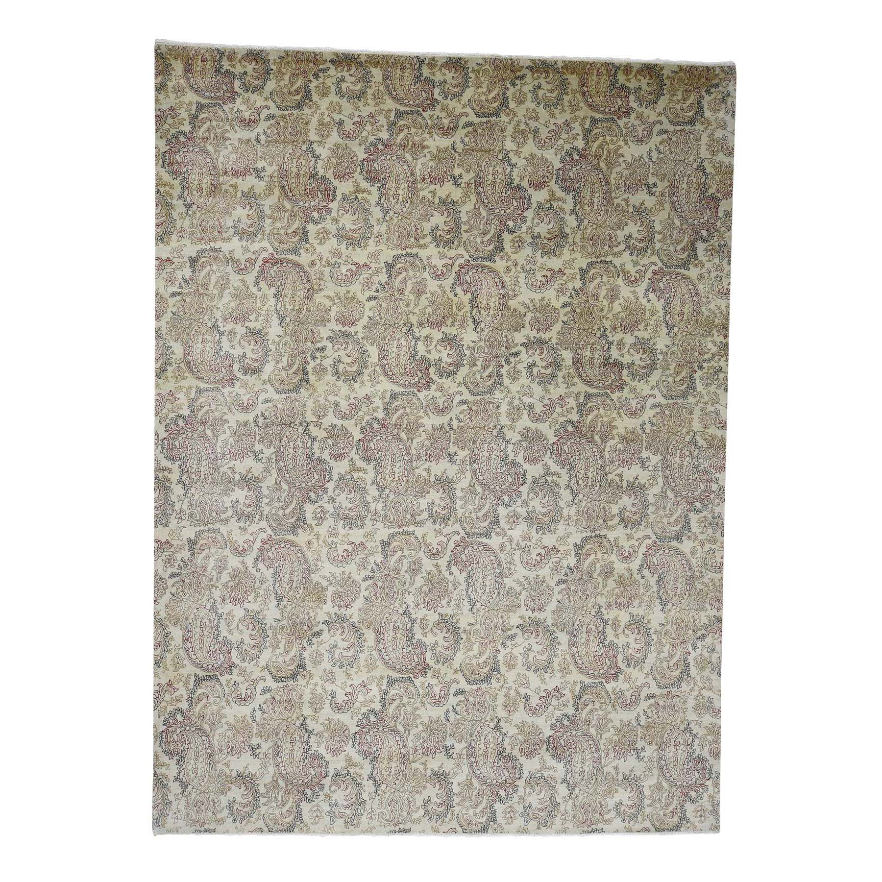 Pahlavi Collection Hand Knotted Beige Rug No: 0180734