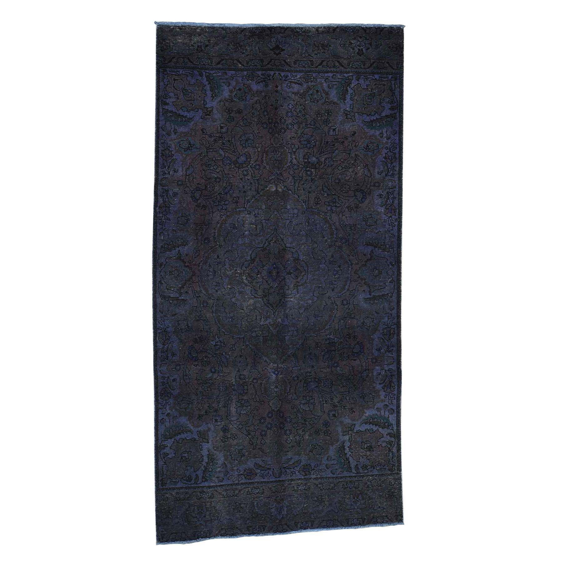 Fetneh Collection And Vintage Overdyed Collection Hand Knotted Purple Rug No: 0180790