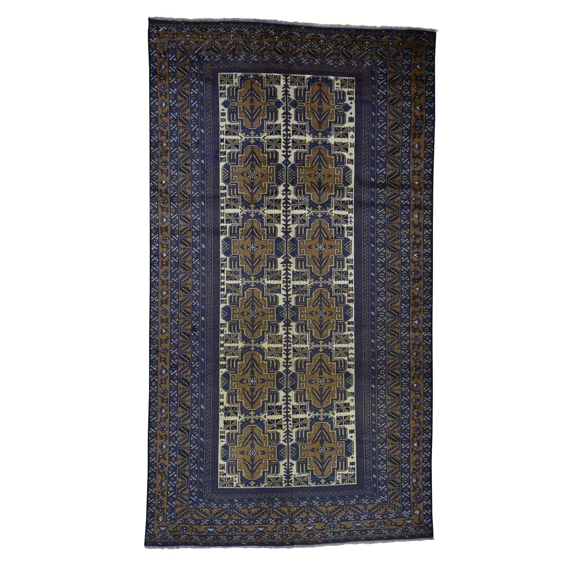 Nomadic And Village Collection Hand Knotted Blue Rug No: 0180810