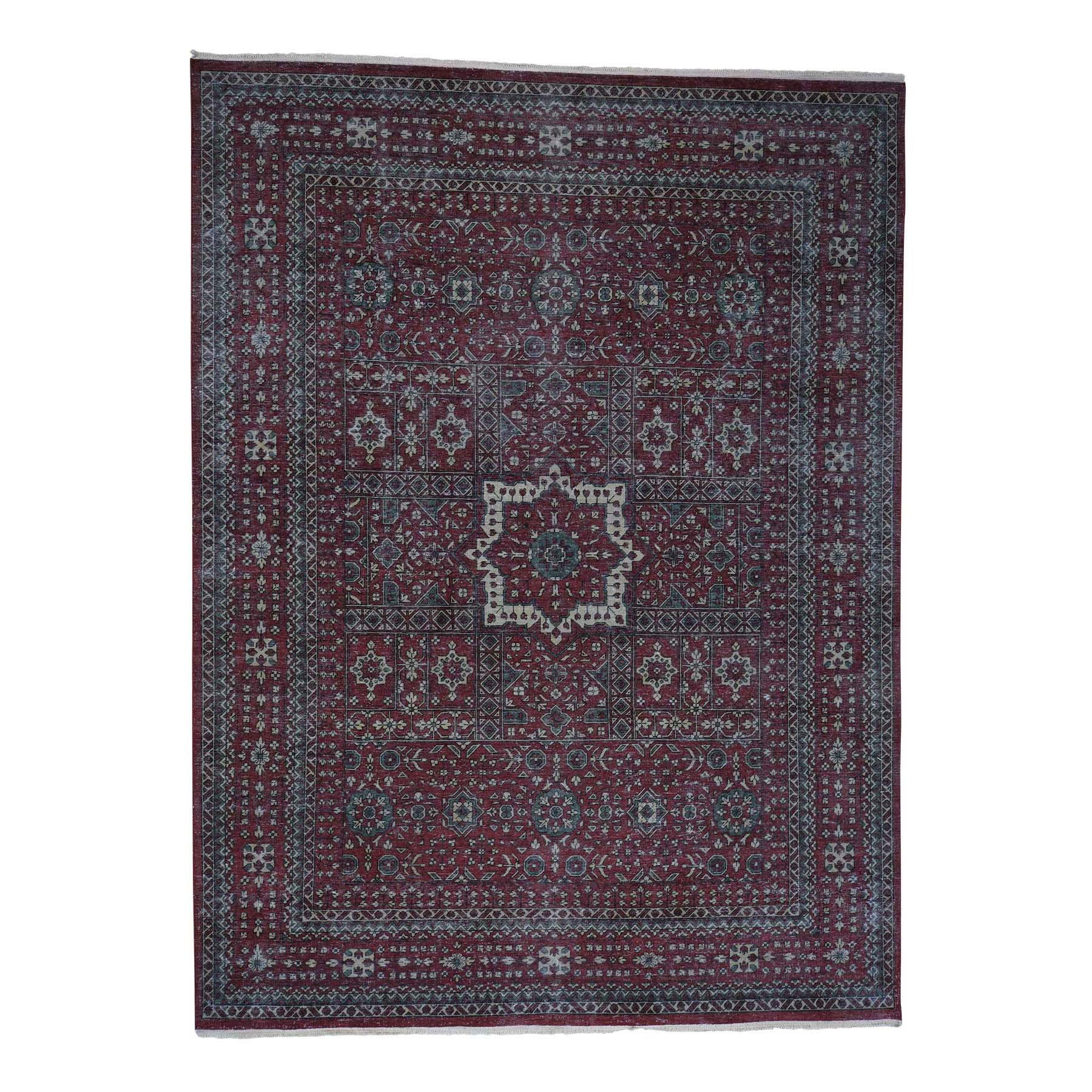 Intricate Collection Hand Knotted Red Rug No: 0181240
