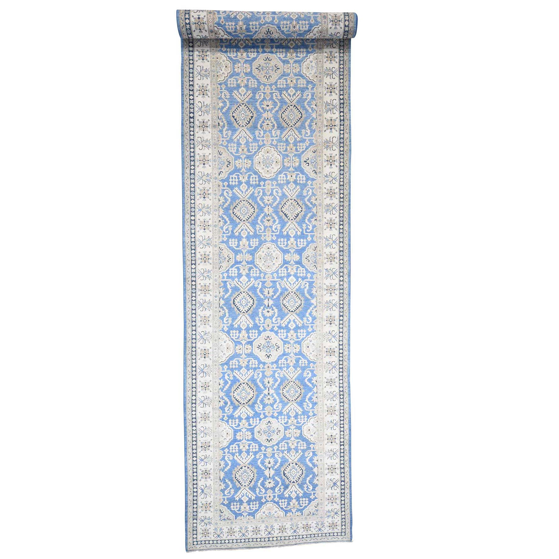 Caucasian Collection Hand Knotted Blue Rug No: 181276