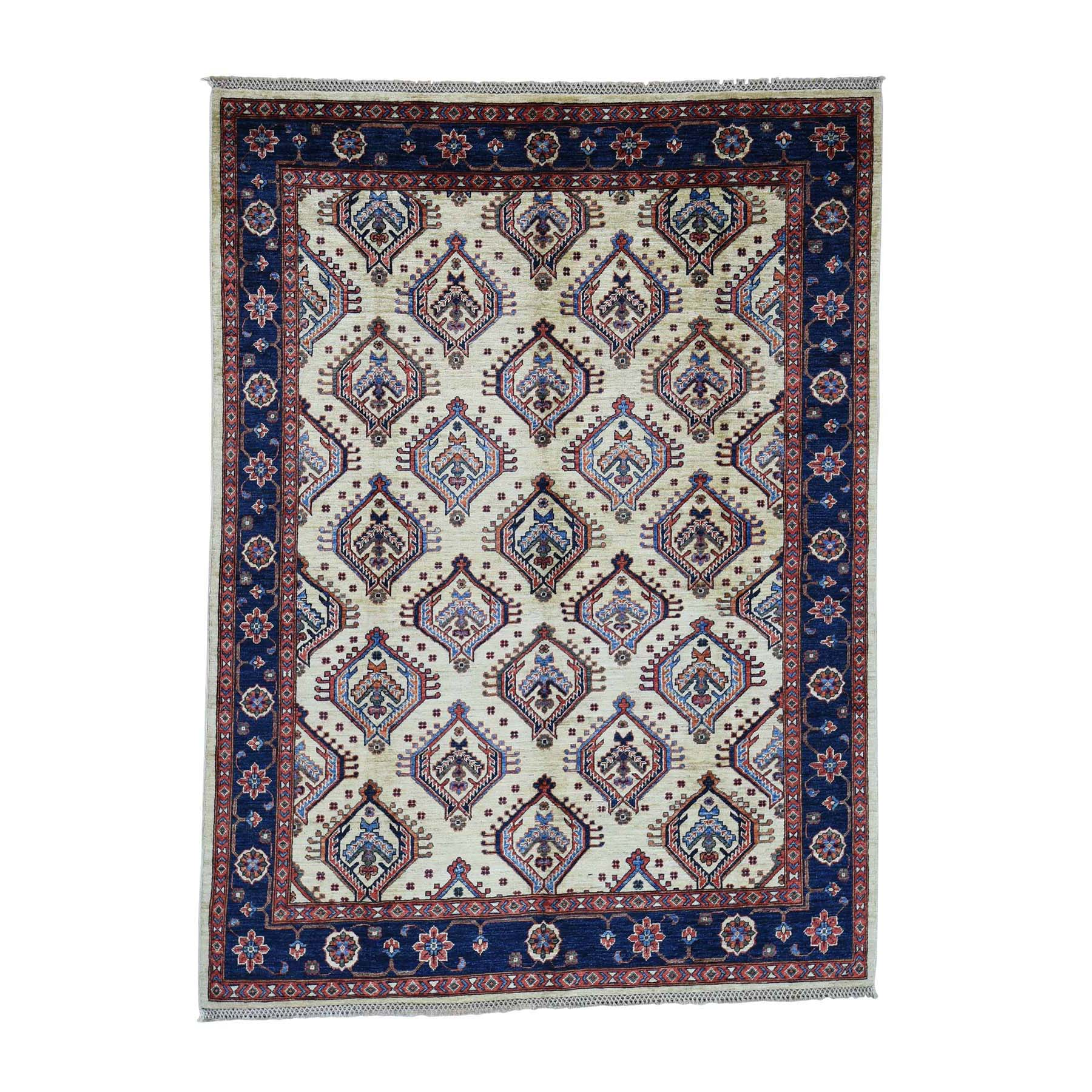 Nomadic And Village Collection Hand Knotted Ivory Rug No: 0181330
