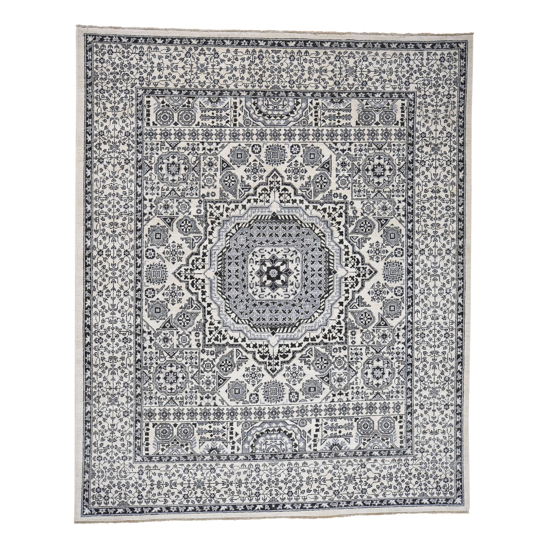 Intricate Collection Hand Knotted Ivory Rug No: 0181348