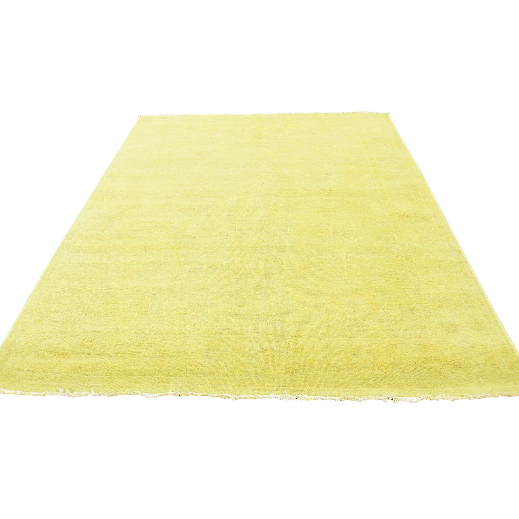 Fetneh Collection And Vintage Overdyed Collection Hand Knotted Yellow Rug No: 181422
