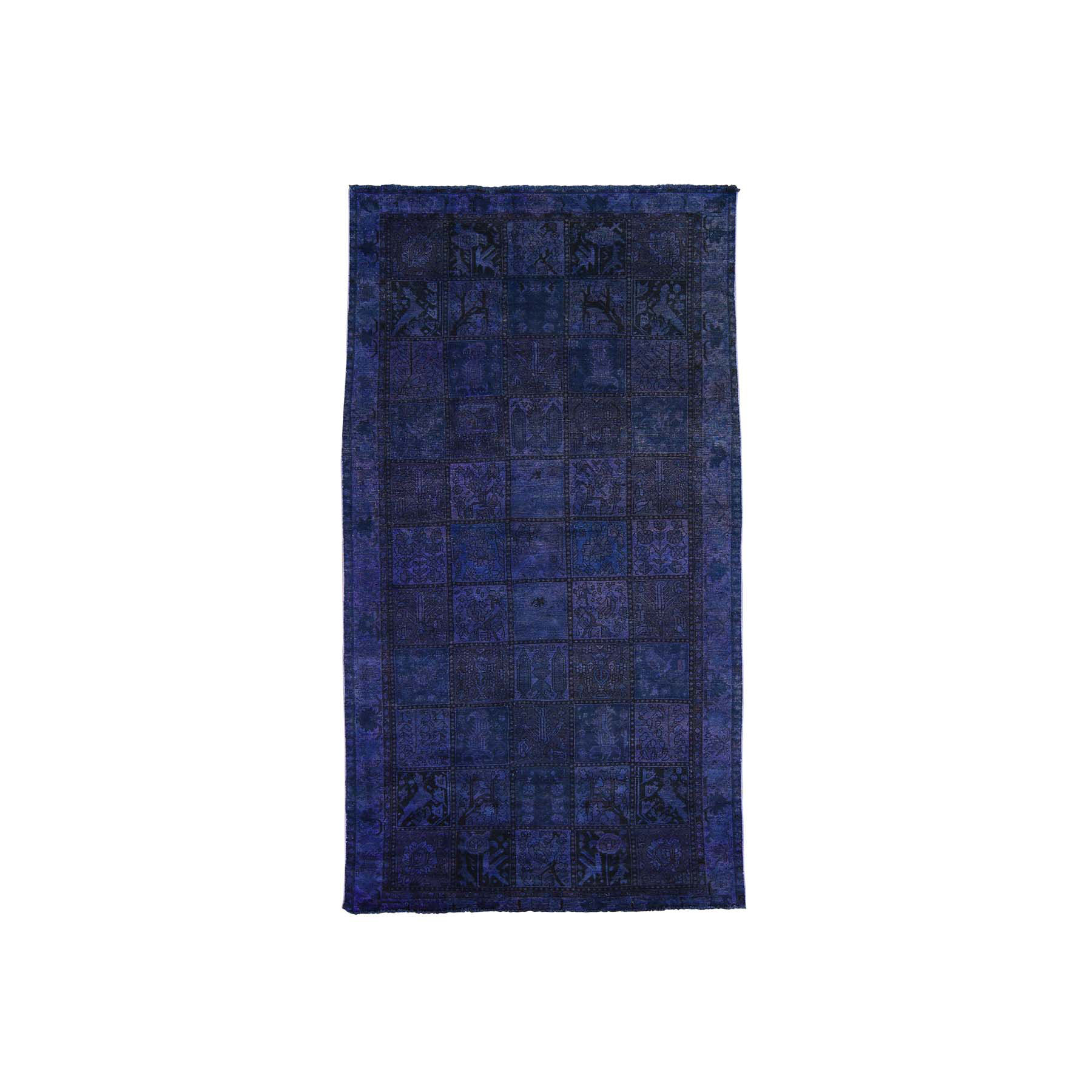 Fetneh Collection And Vintage Overdyed Collection Hand Knotted Purple Rug No: 165608