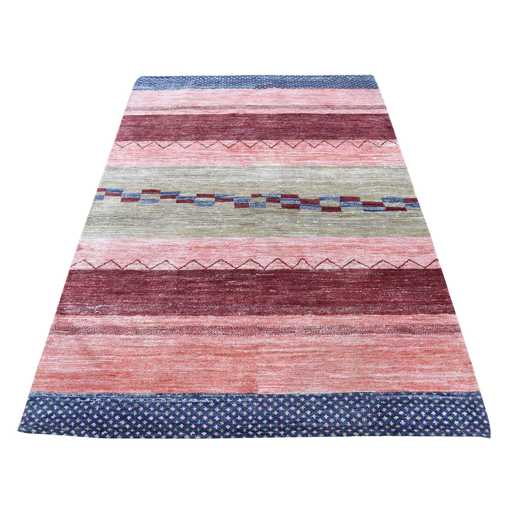 Modern Collection Hand Loomed Multicolored Rug No: 0181502