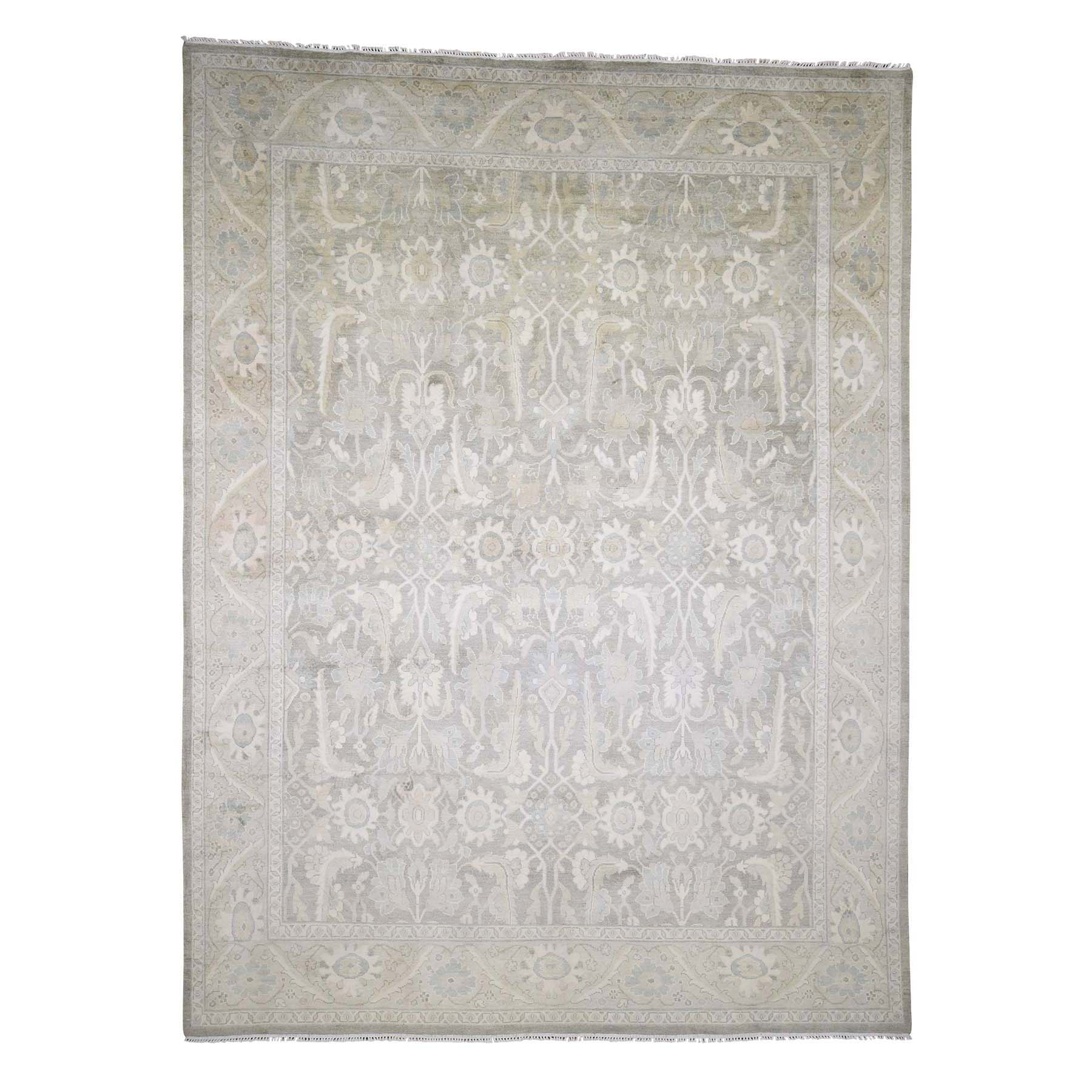 Agra And Turkish Collection Hand Knotted Beige Rug No: 0181986