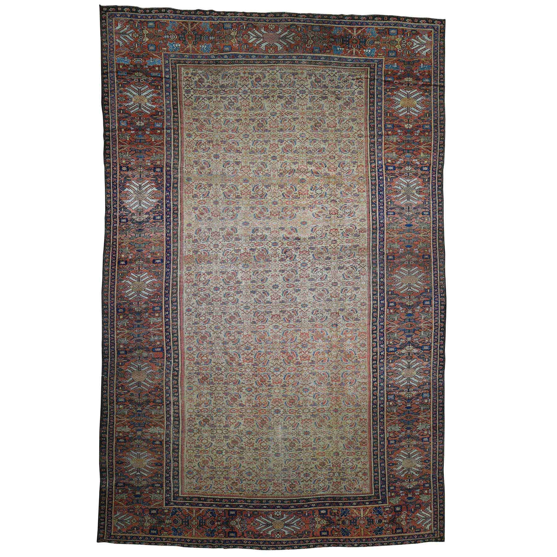 Antique Collection Hand Knotted Beige Rug No: 0181634