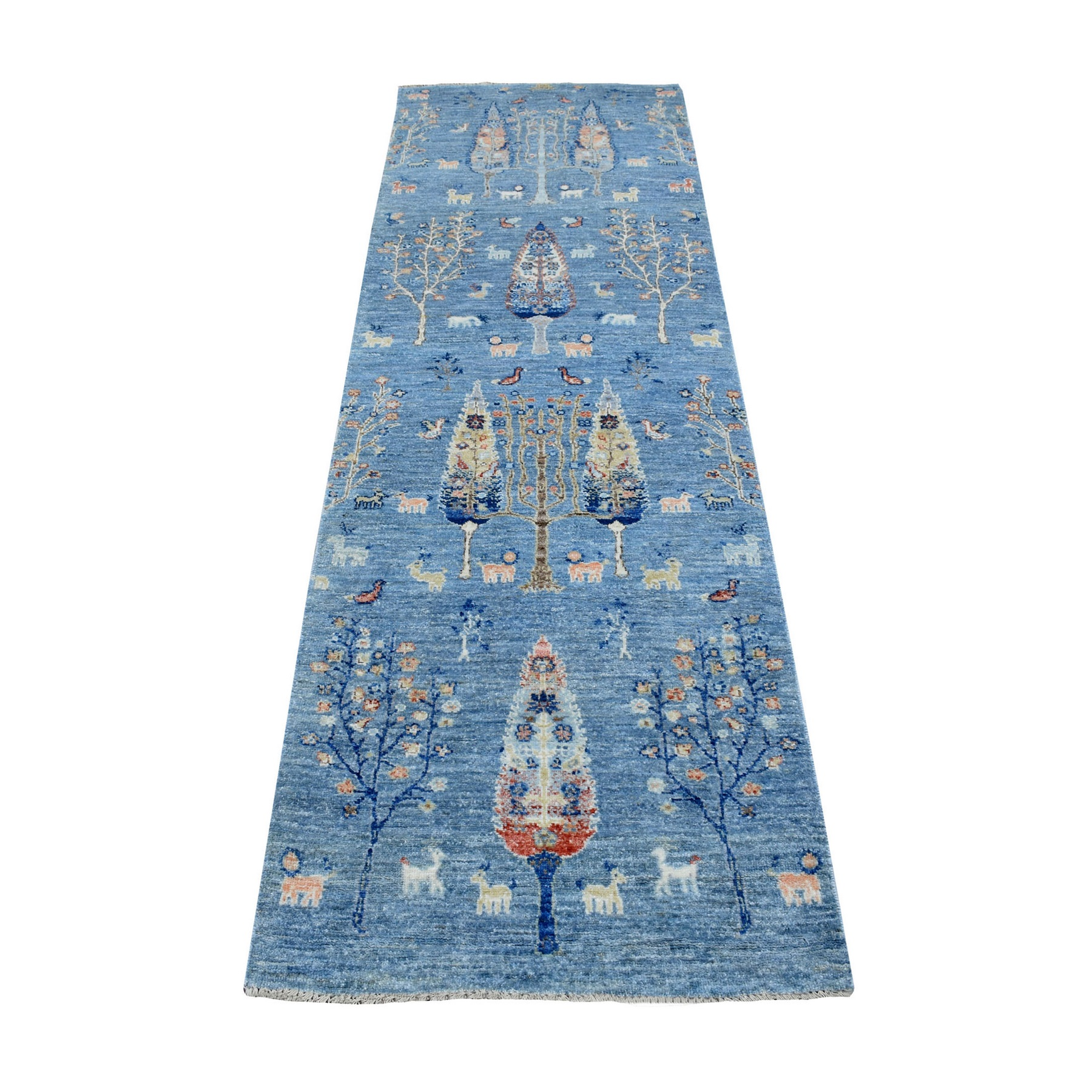 Agra And Turkish Collection Hand Knotted Blue Rug No: 1137460