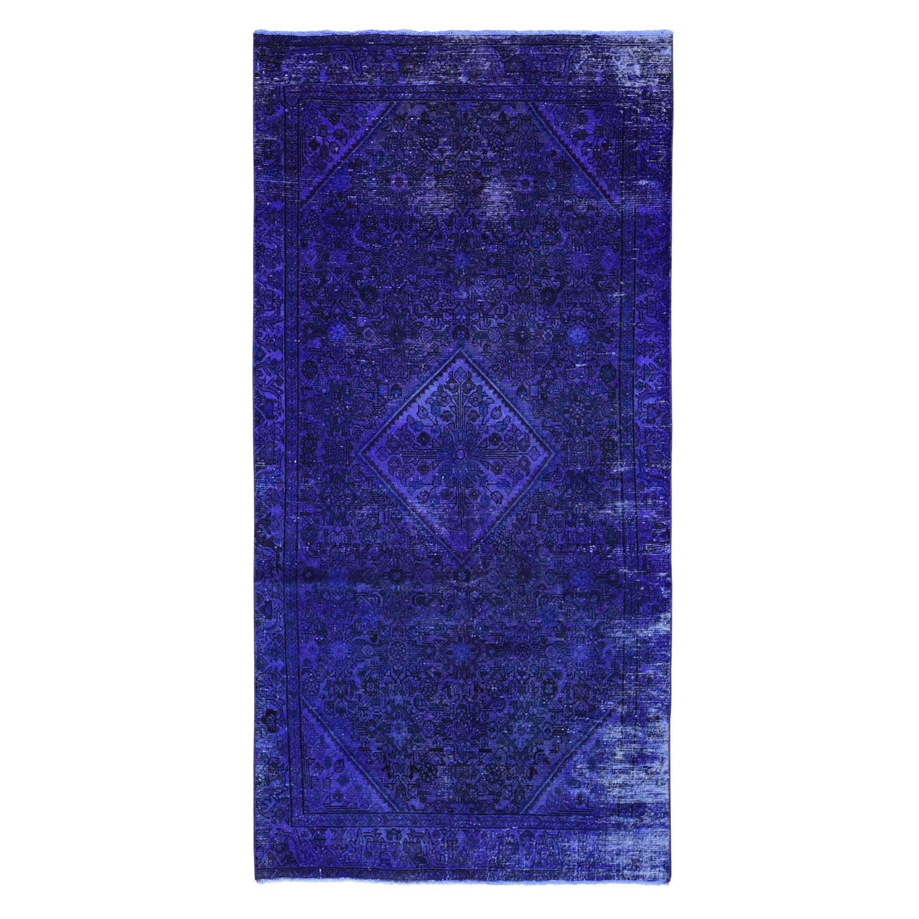 Fetneh Collection And Vintage Overdyed Collection Hand Knotted Purple Rug No: 1118392