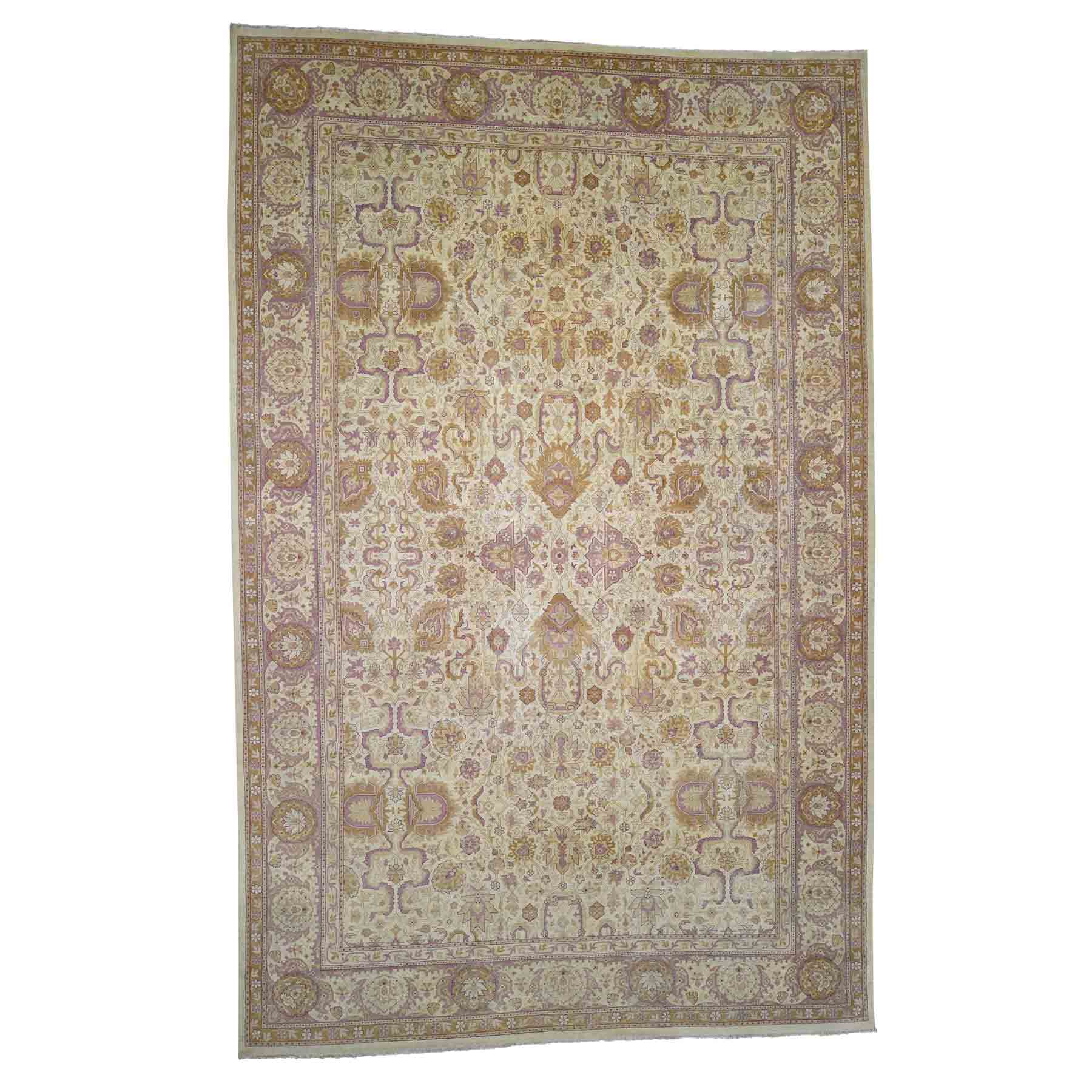 Antique Collection Hand Knotted Green Rug No: 182350