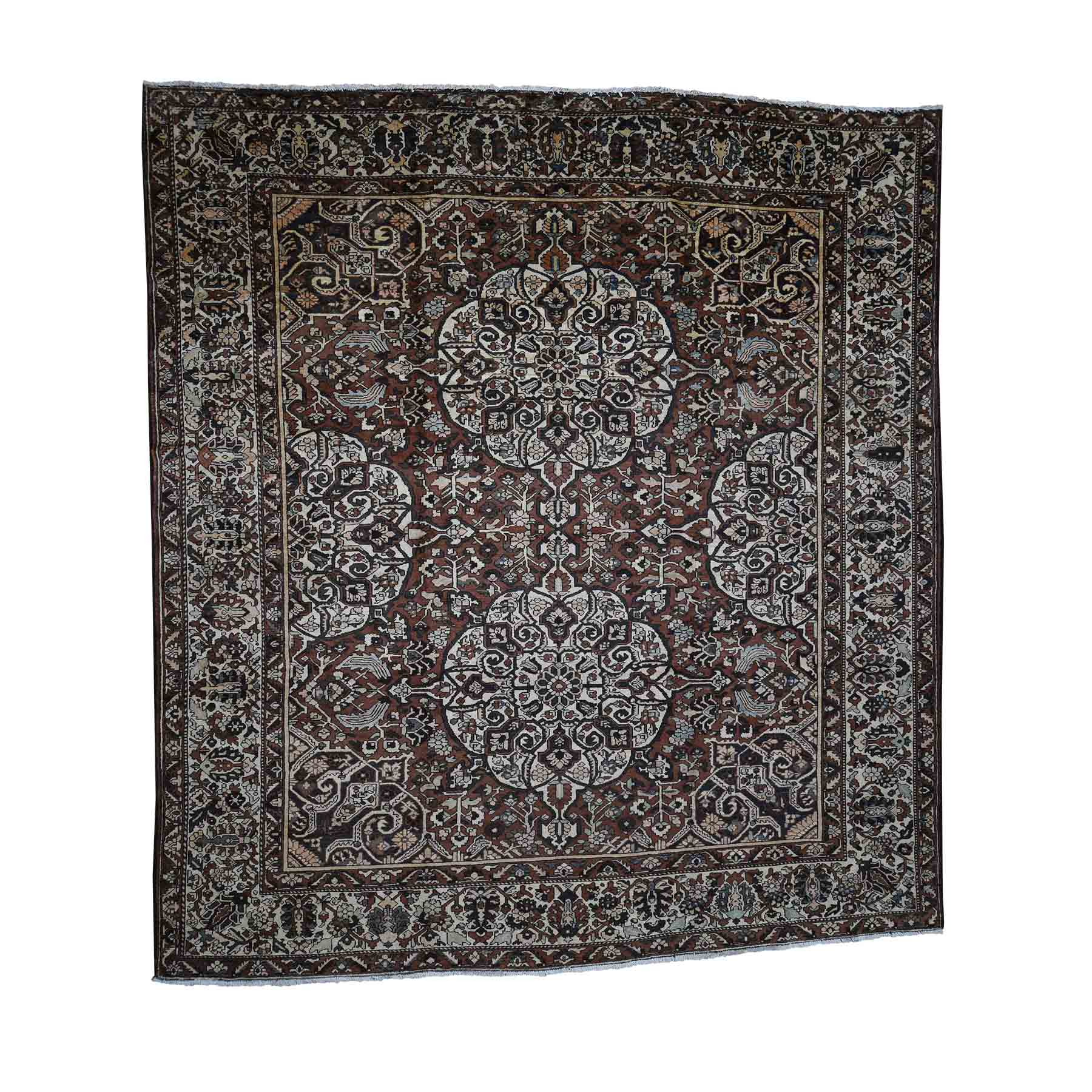 Antique Collection Hand Knotted Brown Rug No: 182352