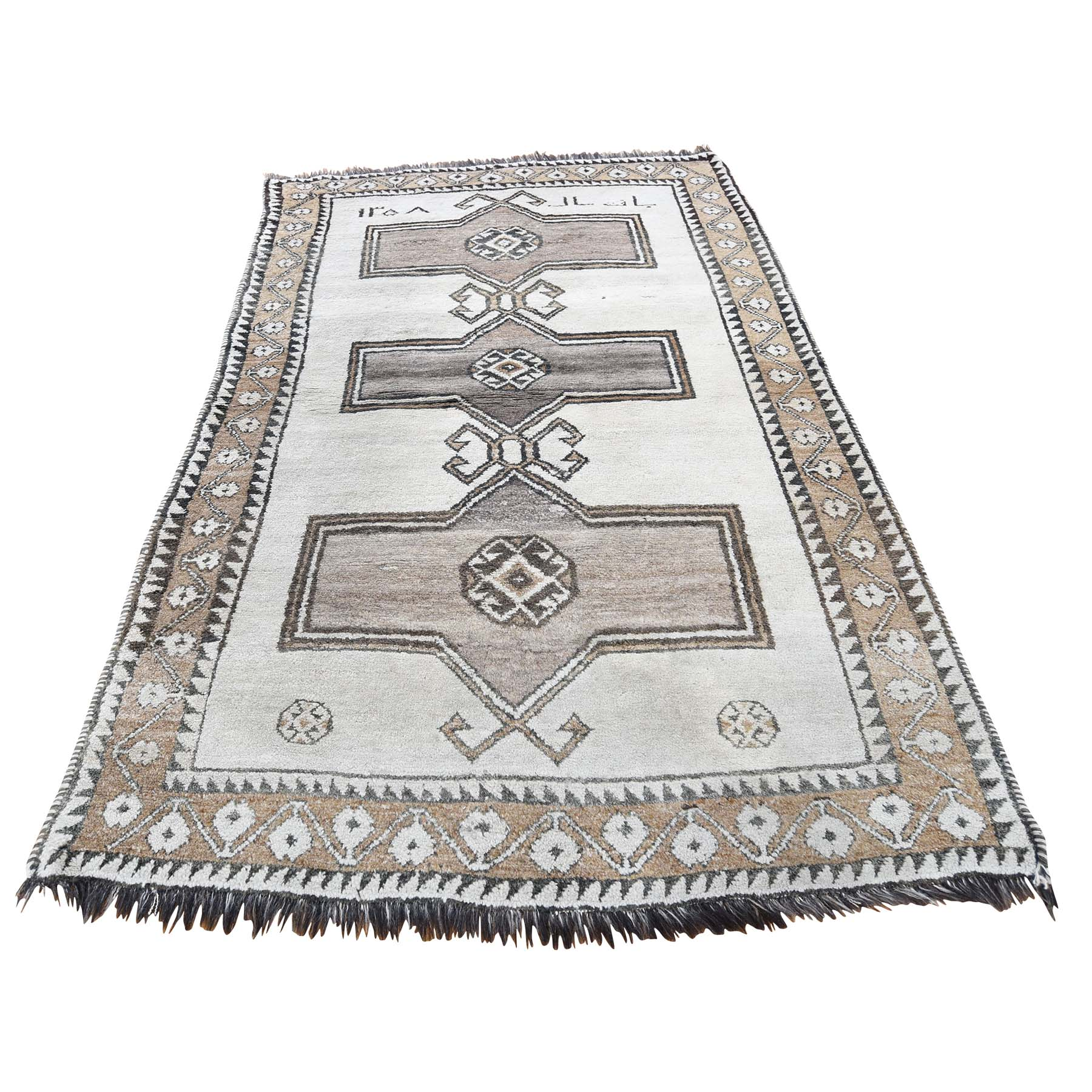 Nomadic And Village Collection Hand Knotted Ivory Rug No: 182434