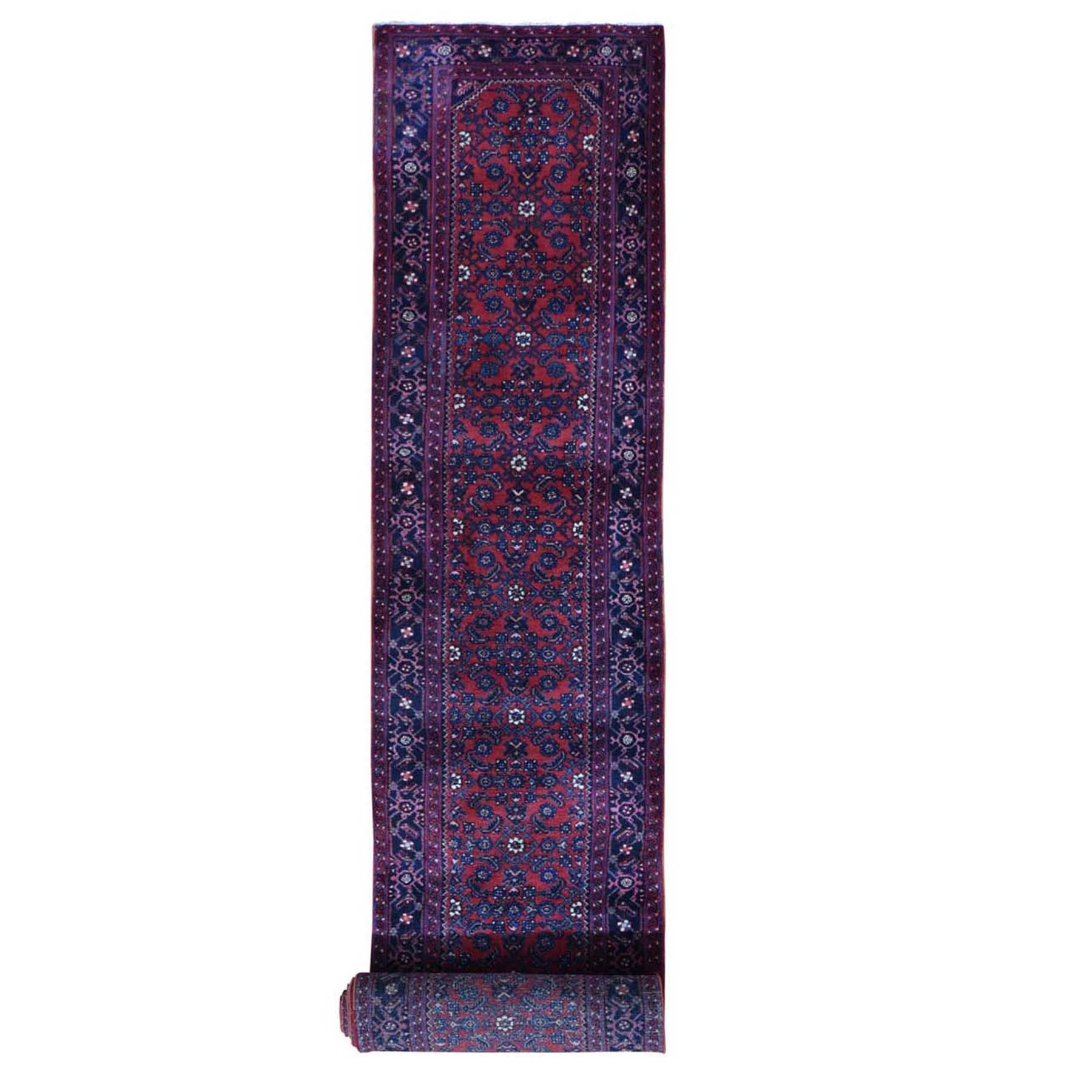 Antique Collection Hand Knotted Red Rug No: 1118594
