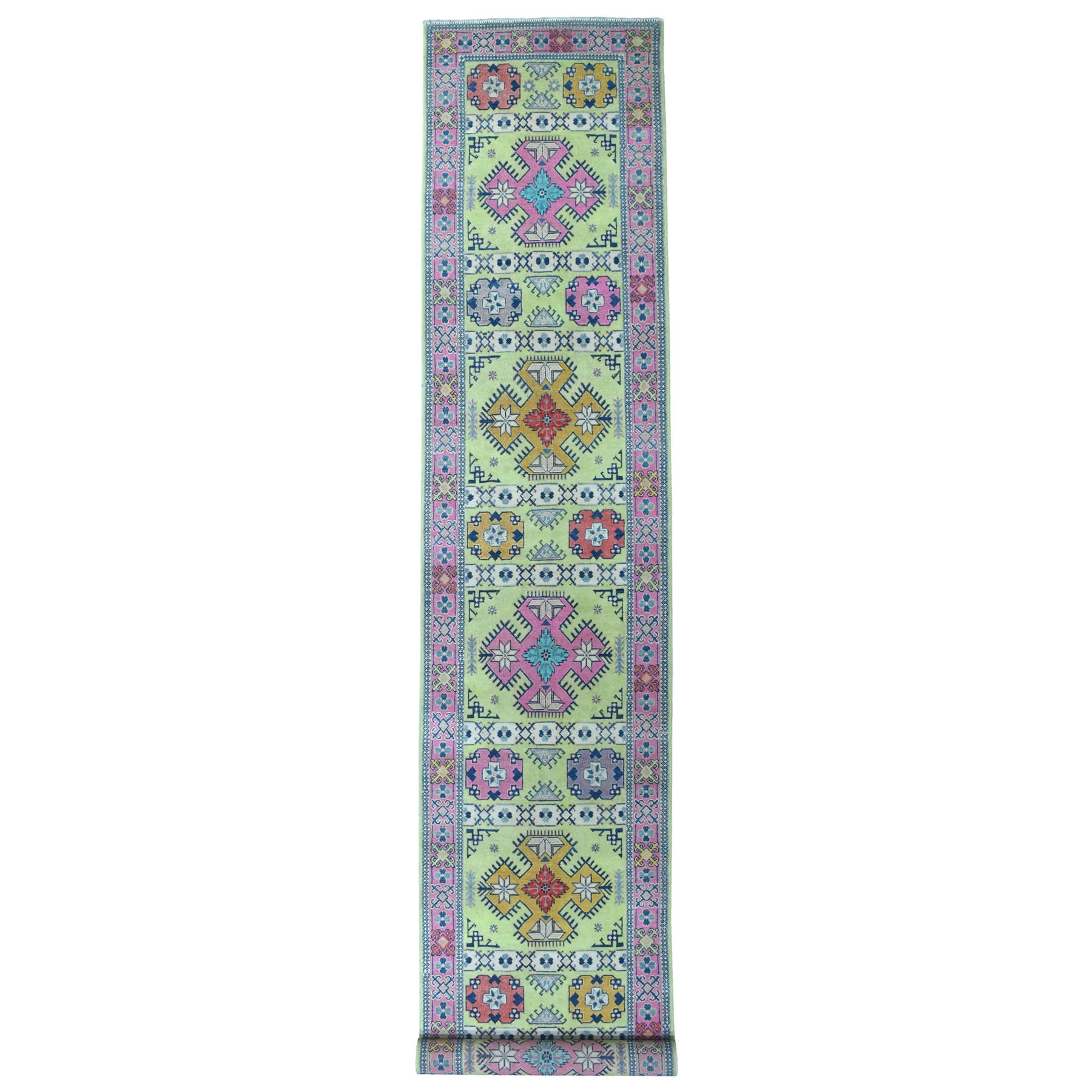 Caucasian Collection Hand Knotted Green Rug No: 1111112