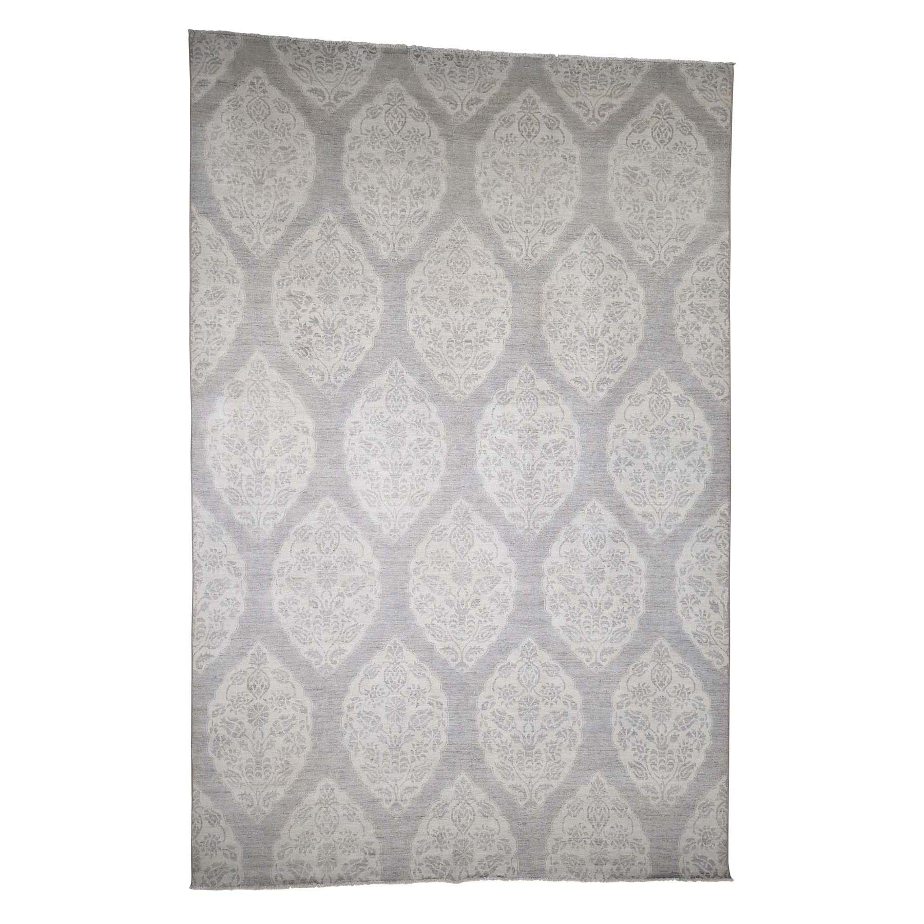 Agra And Turkish Collection Hand Knotted Grey 0182932 Rug