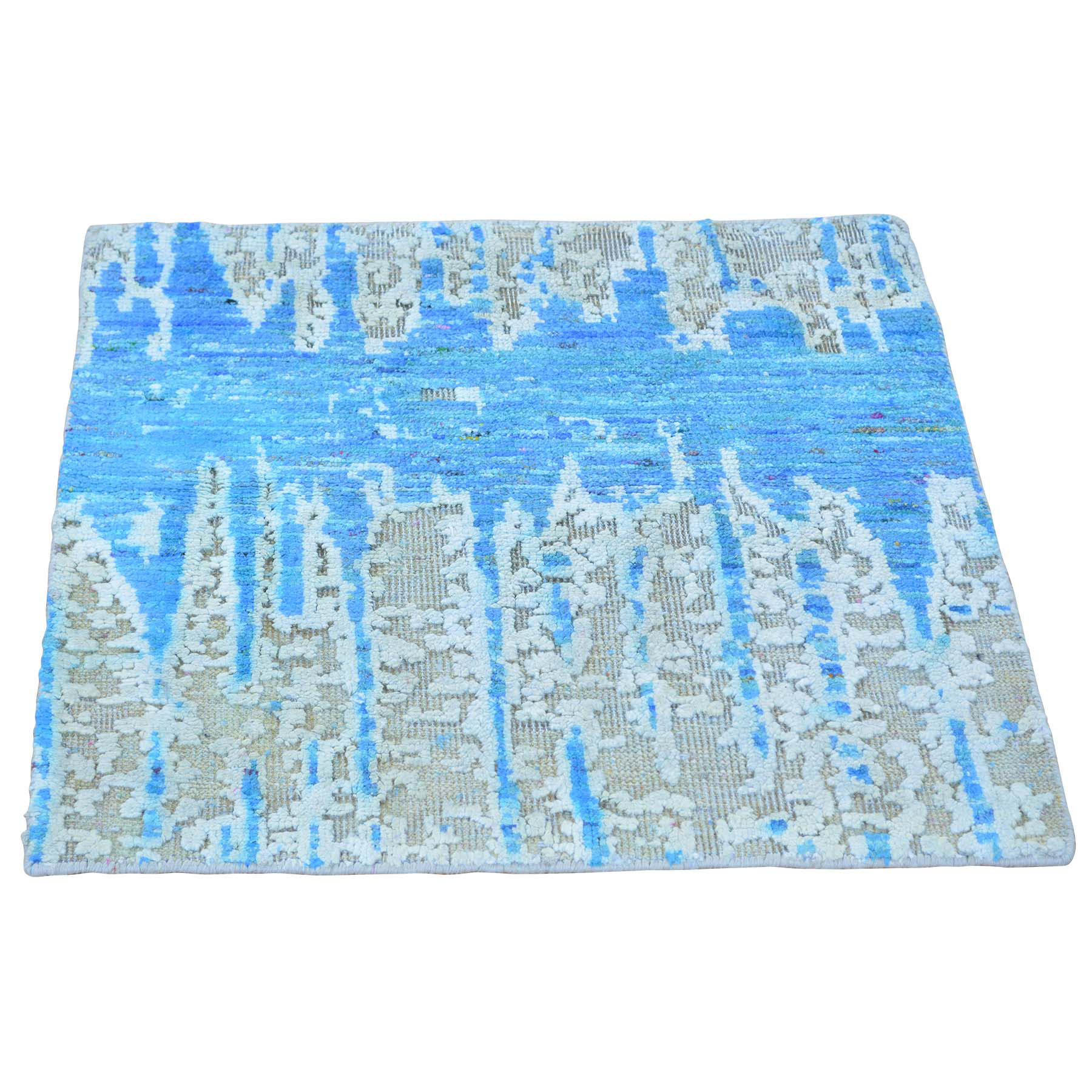 Mid Century Modern Collection Hand Knotted Multicolored Rug No: 0148632
