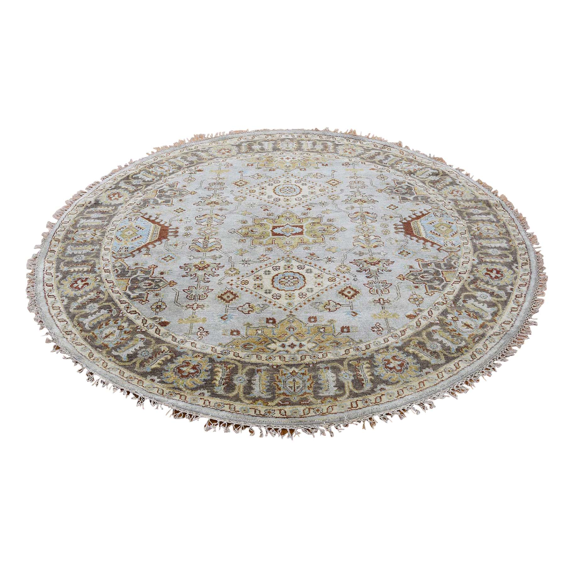 Serapi Heriz and Bakhshayesh Collection Hand Knotted Grey Rug No: 183228