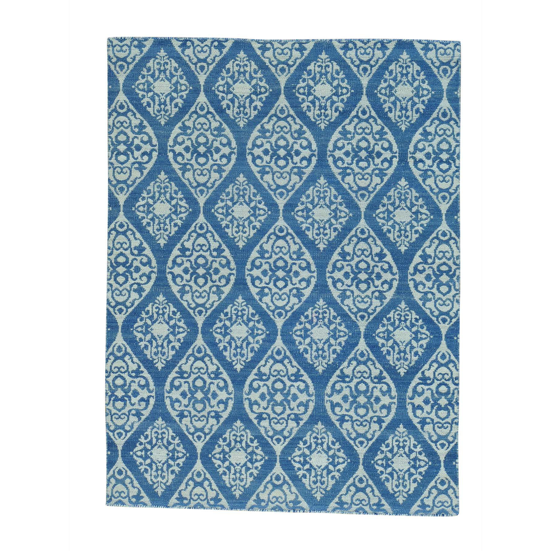 Fine Kilim Collection Hand Woven Blue Rug No: 0152792