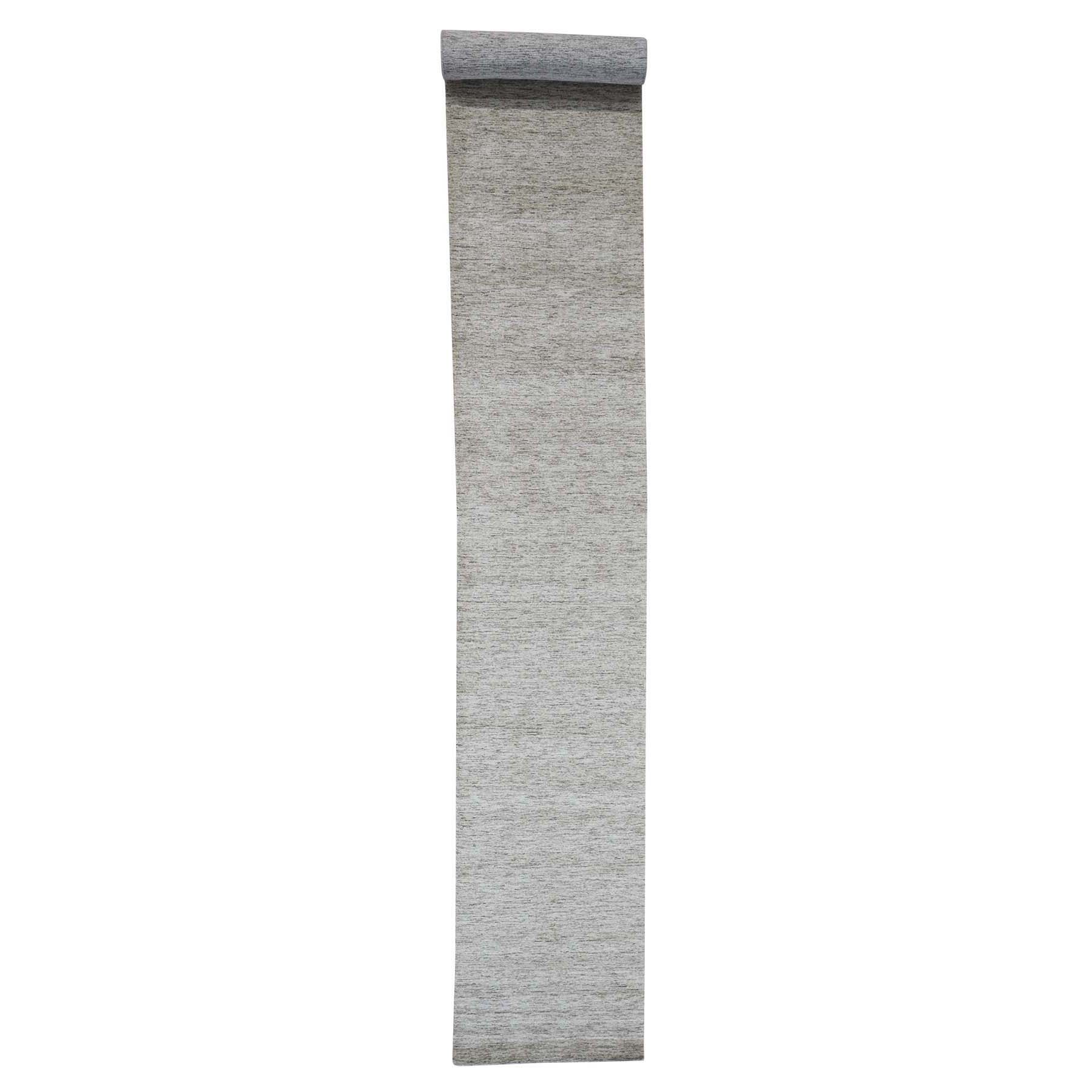Mid Century Modern Collection Hand Loomed Grey Rug No: 180876