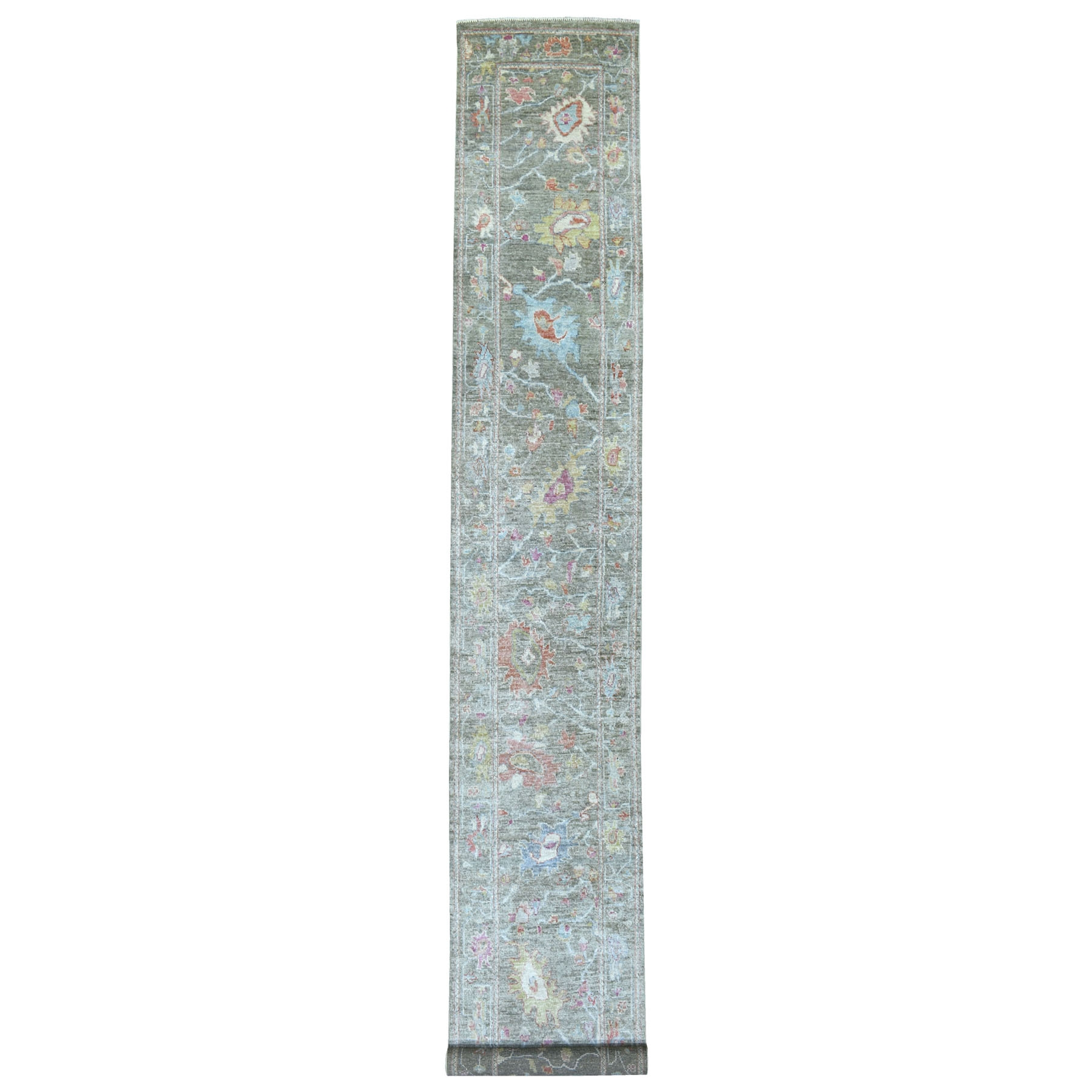 Agra And Turkish Collection Hand Knotted Green Rug No: 1112334
