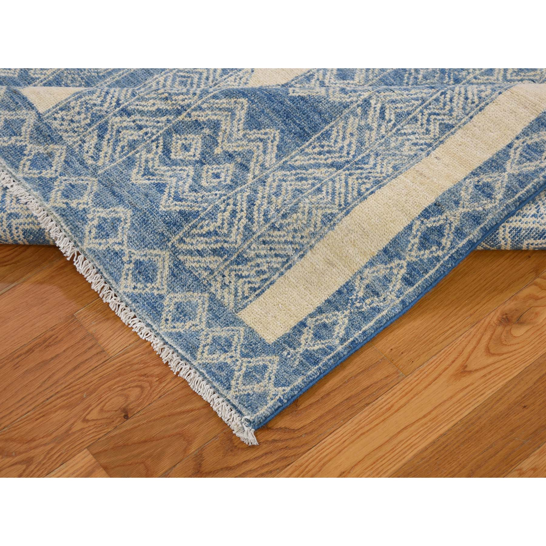 Agra And Turkish Collection Hand Knotted Blue 0183800 Rug