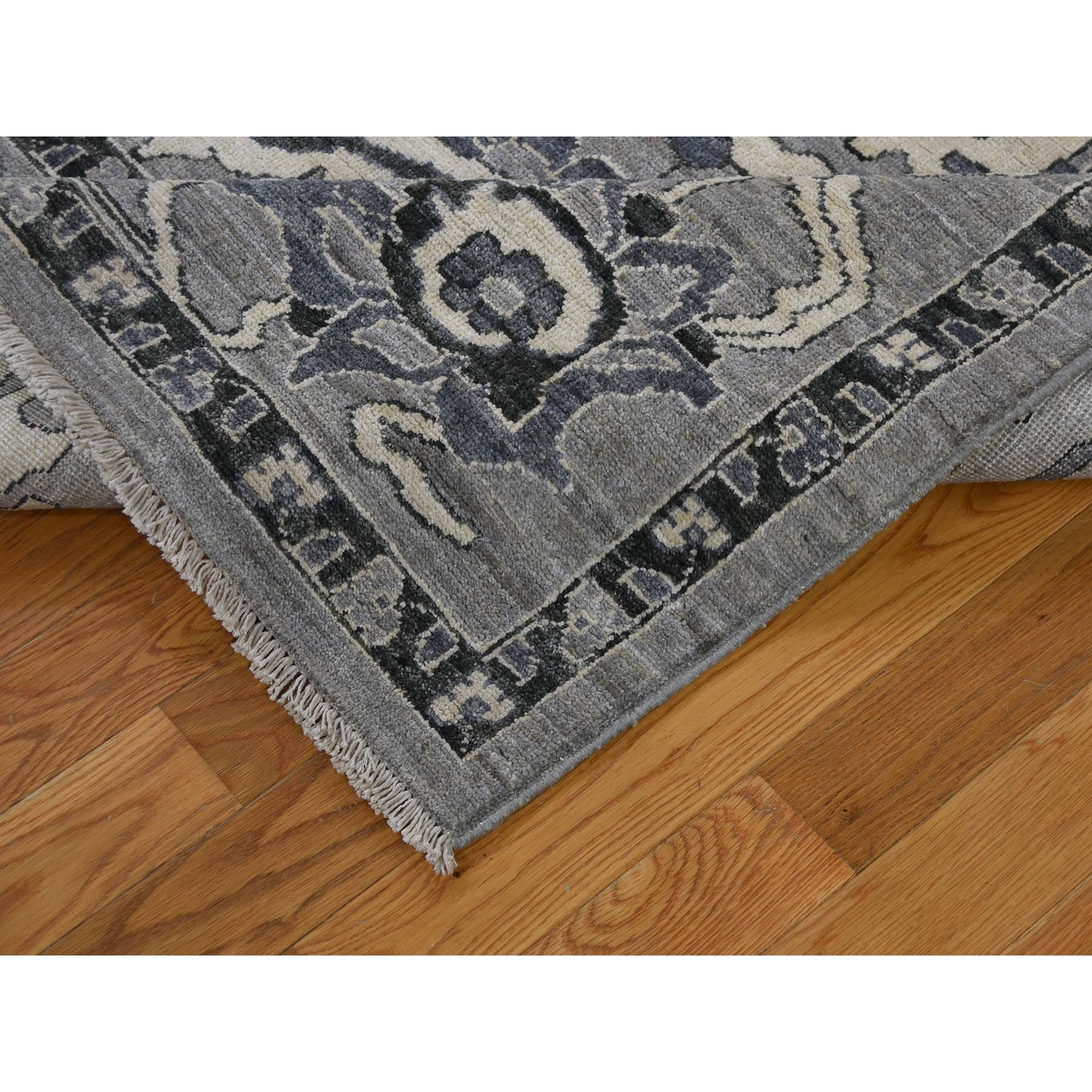 Agra And Turkish Collection Hand Knotted Grey 0183728 Rug