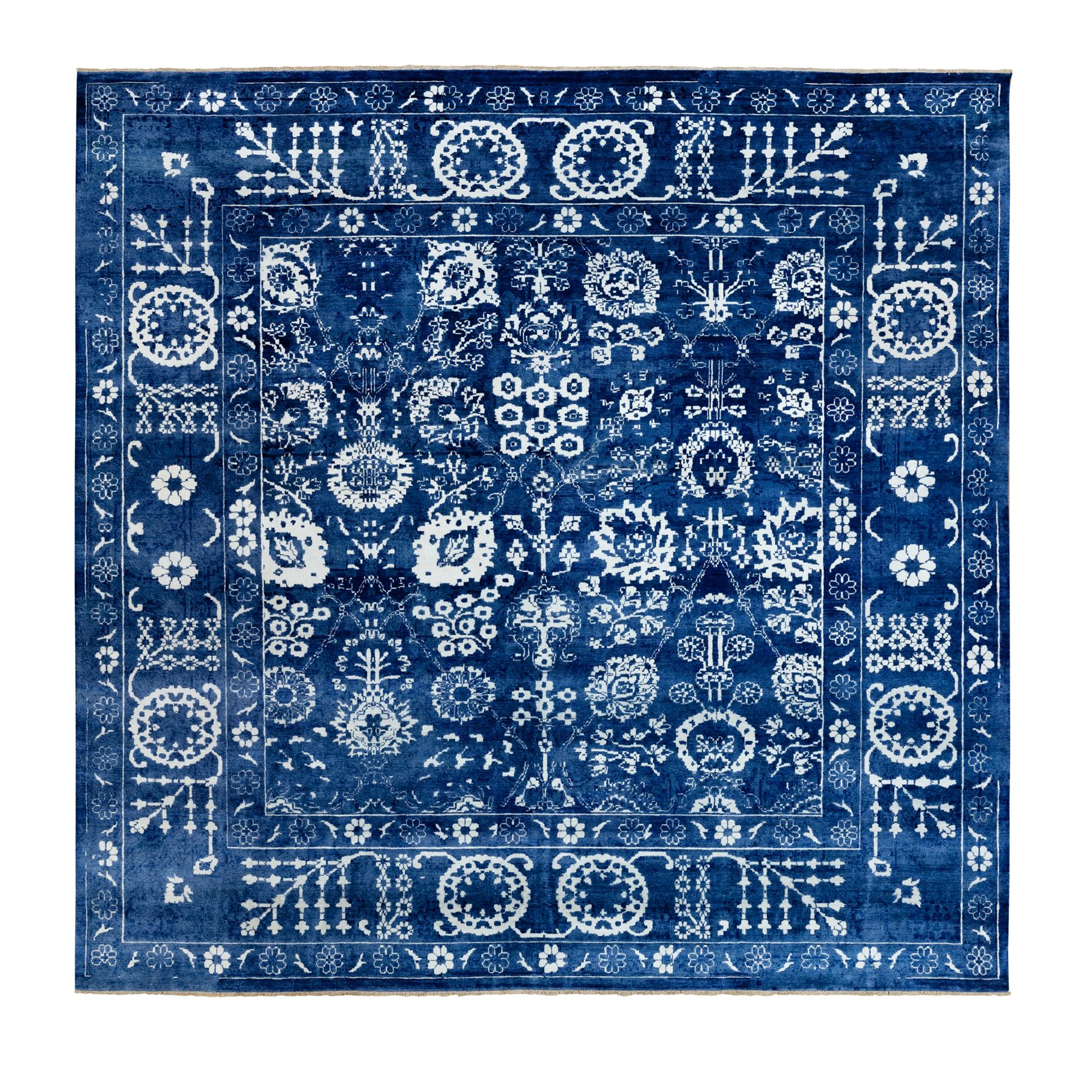 Transitional Hand Knotted Blue Rug No: 1117092