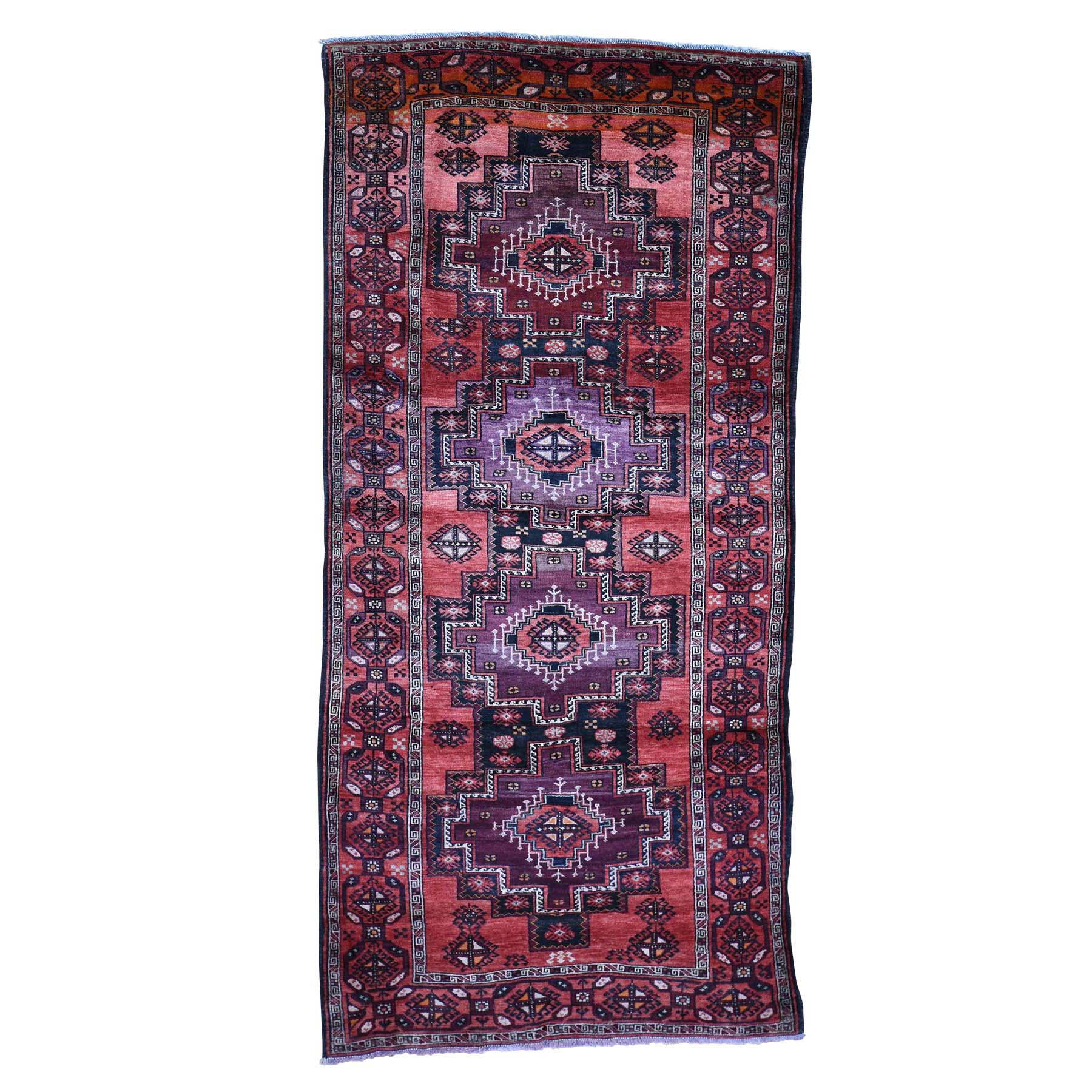 Nomadic And Village Collection Hand Knotted Red Rug No: 0184372