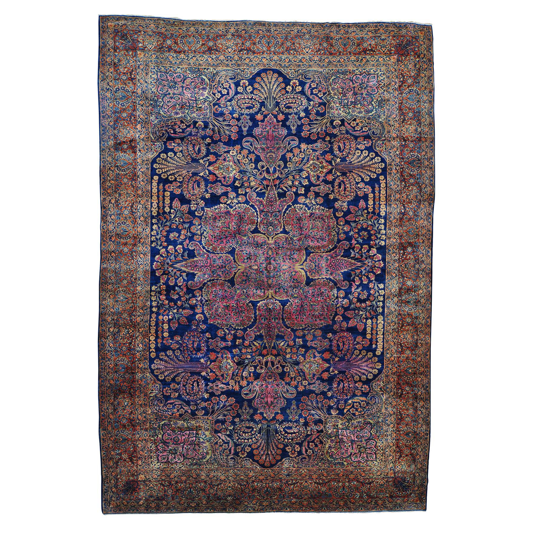 Antique Collection Hand Knotted Blue Rug No: 152854