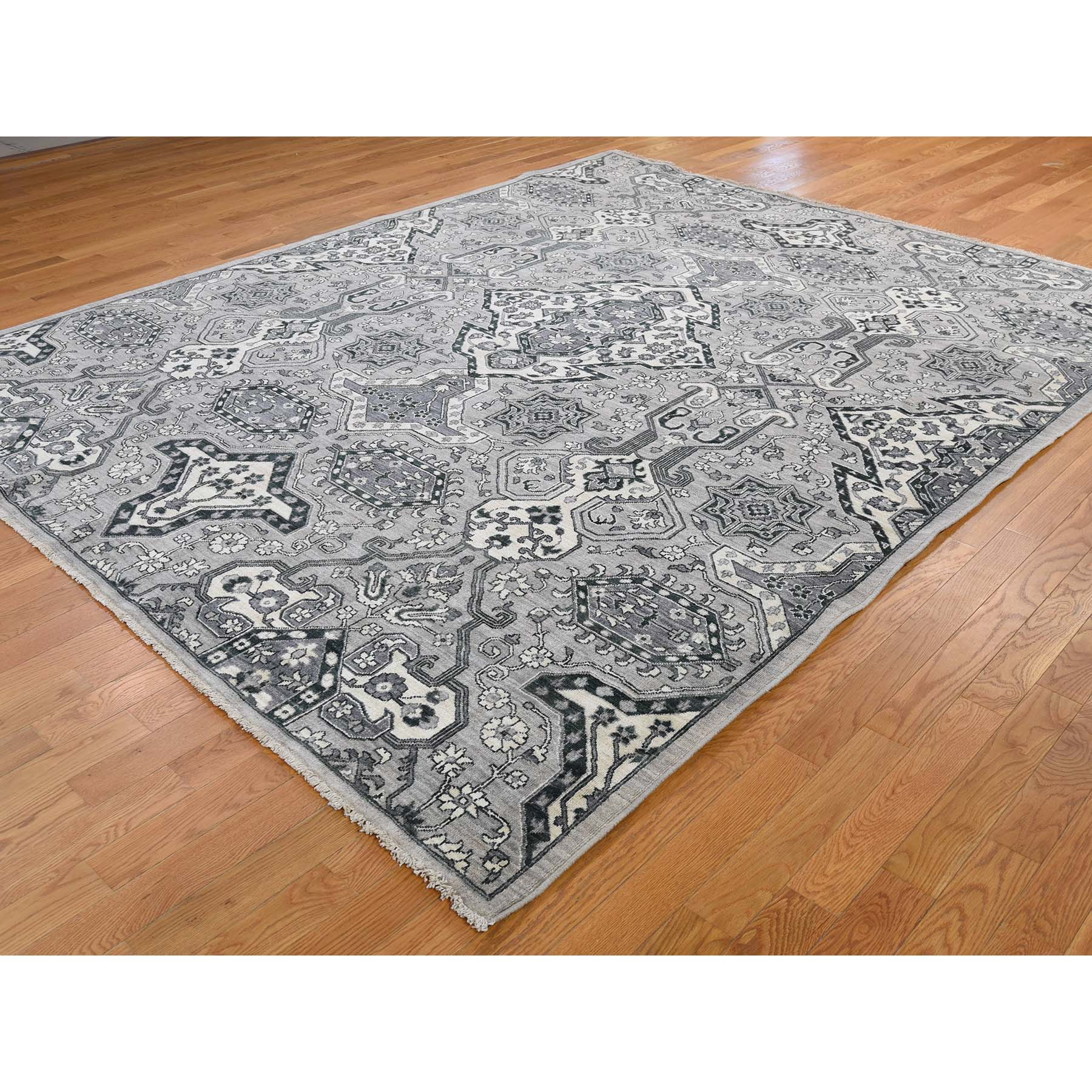 Agra And Turkish Collection Hand Knotted Grey 0184494 Rug