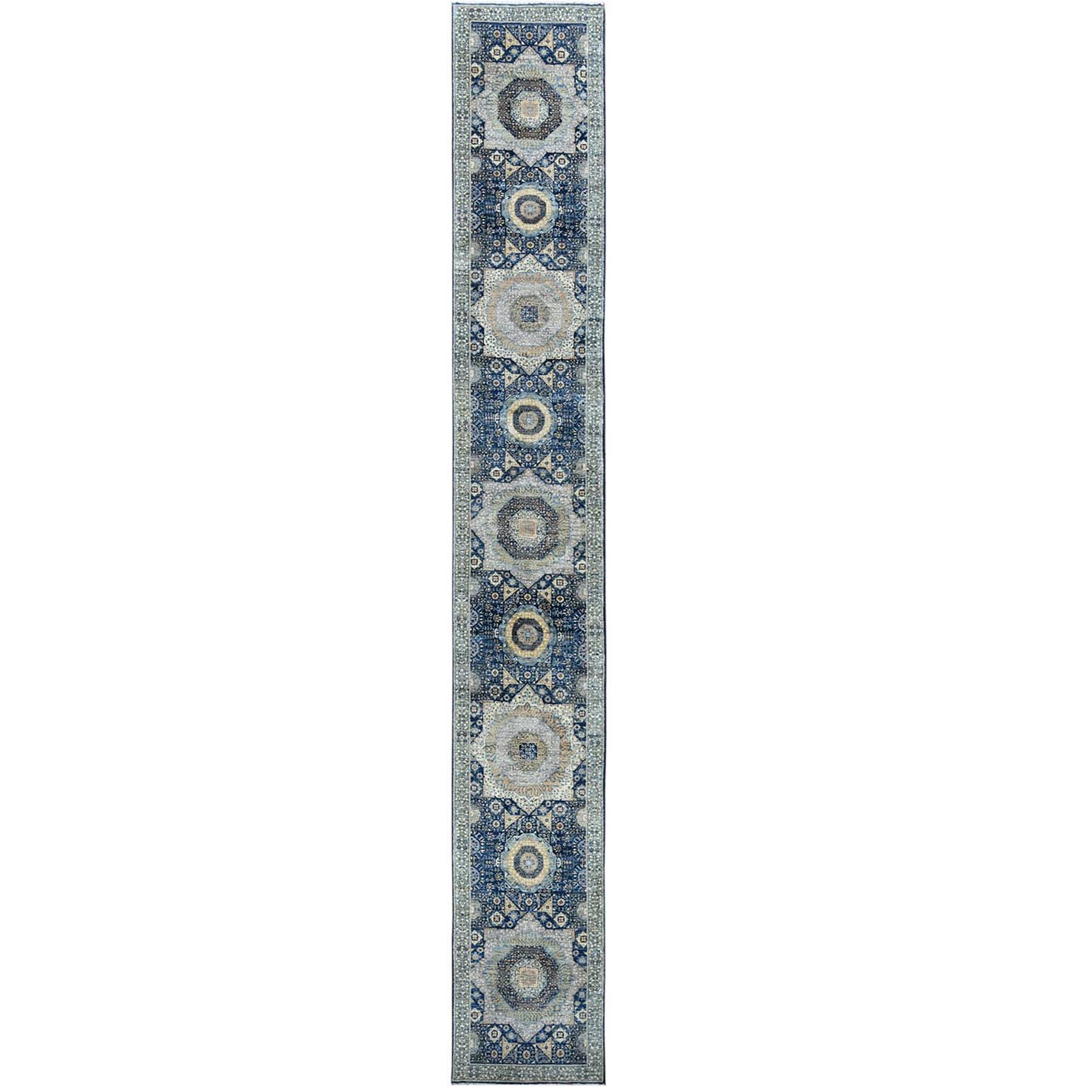 Intricate Collection Hand Knotted Blue Rug No: 1120566