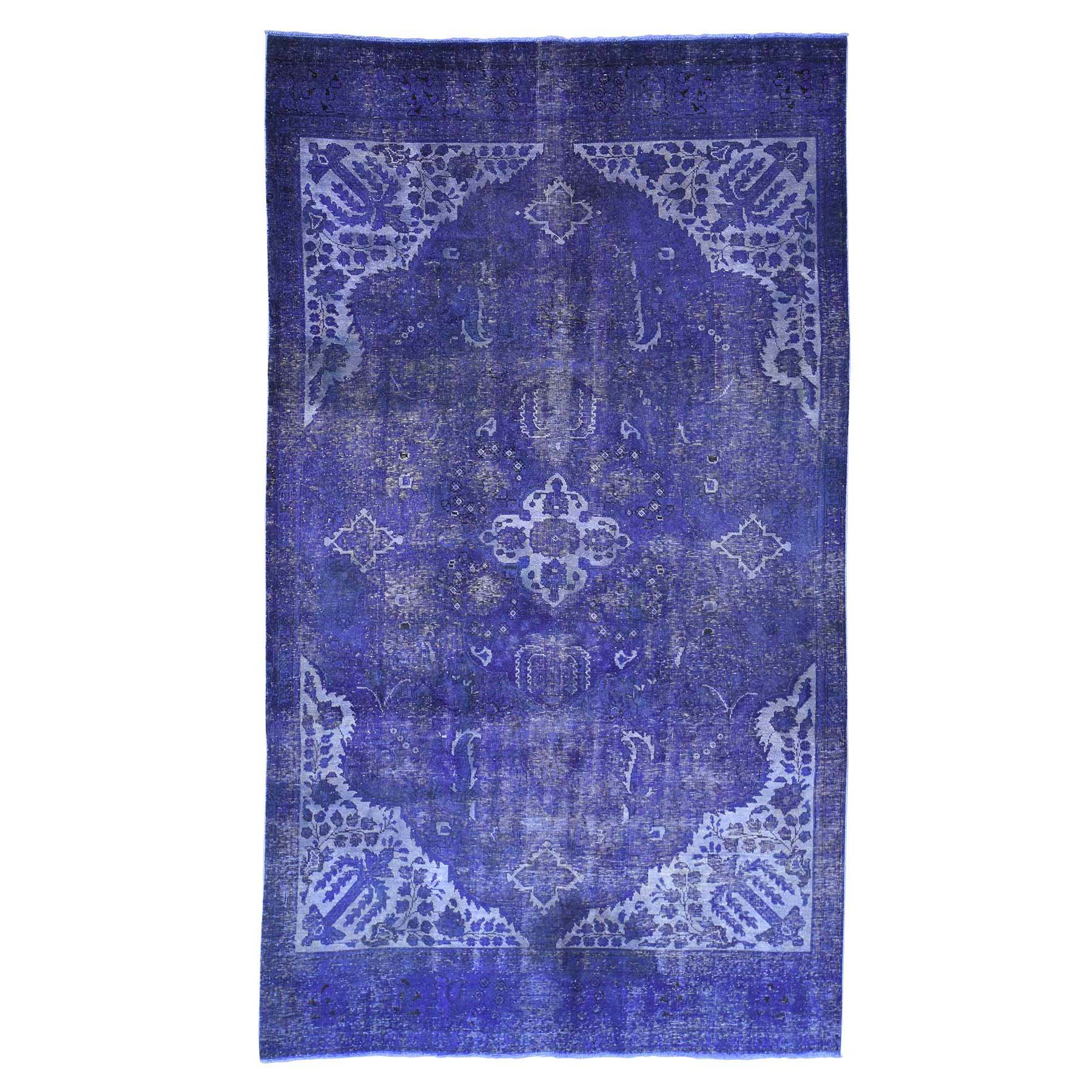 Fetneh Collection And Vintage Overdyed Collection Hand Knotted Purple Rug No: 180892