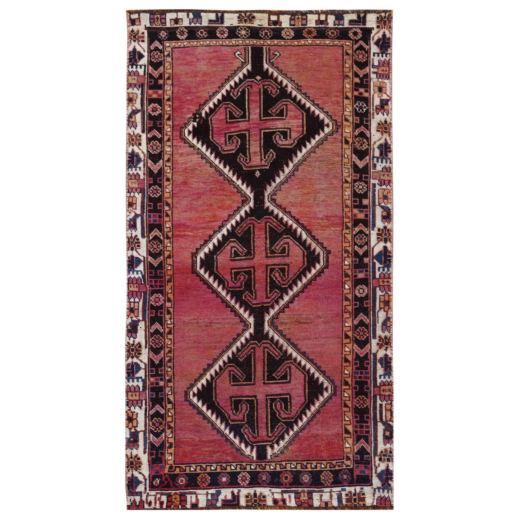 Fetneh Collection And Vintage Overdyed Collection Hand Knotted Red Rug No: 1115880