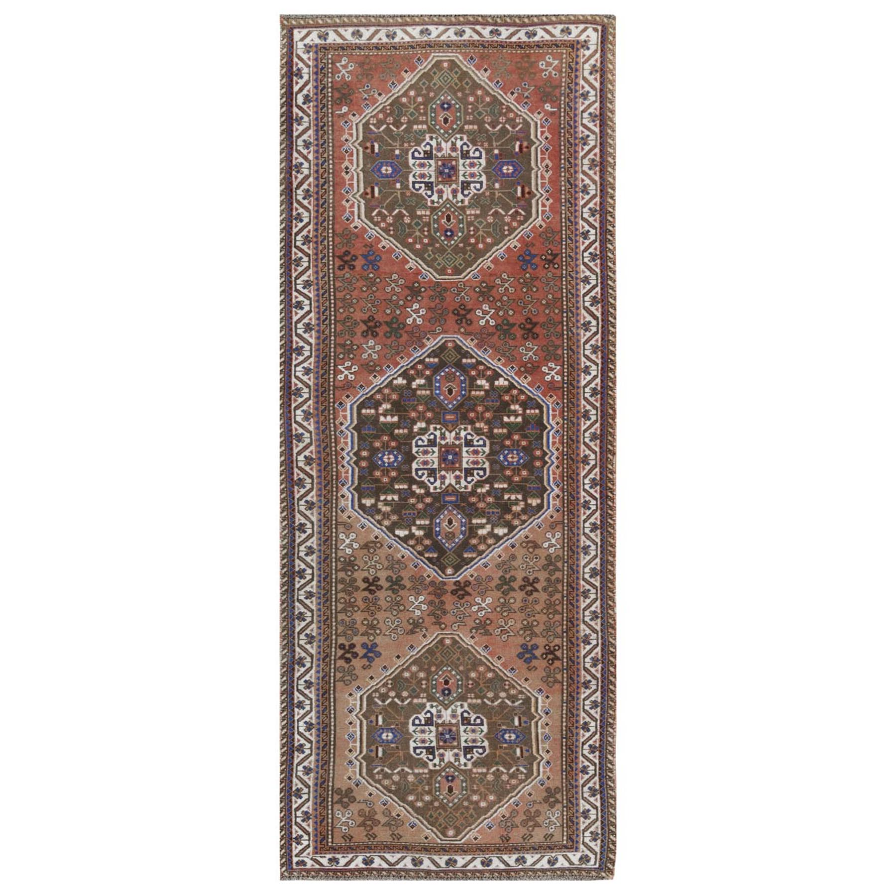 Fetneh Collection And Vintage Overdyed Collection Hand Knotted Red Rug No: 1115942