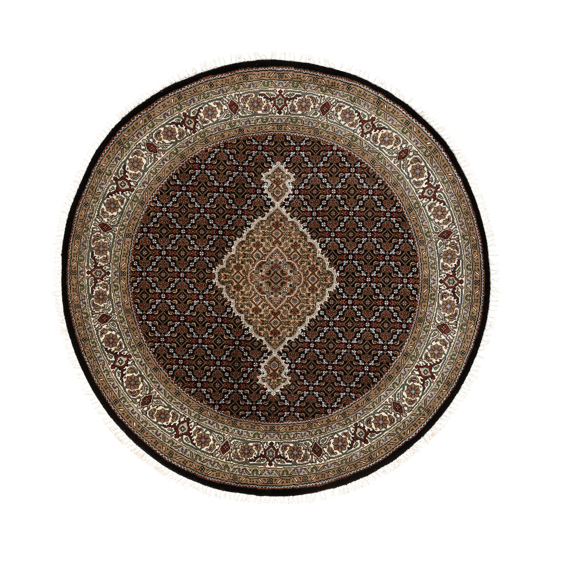 Pirniakan Collection Hand Knotted Black Rug No: 1117378
