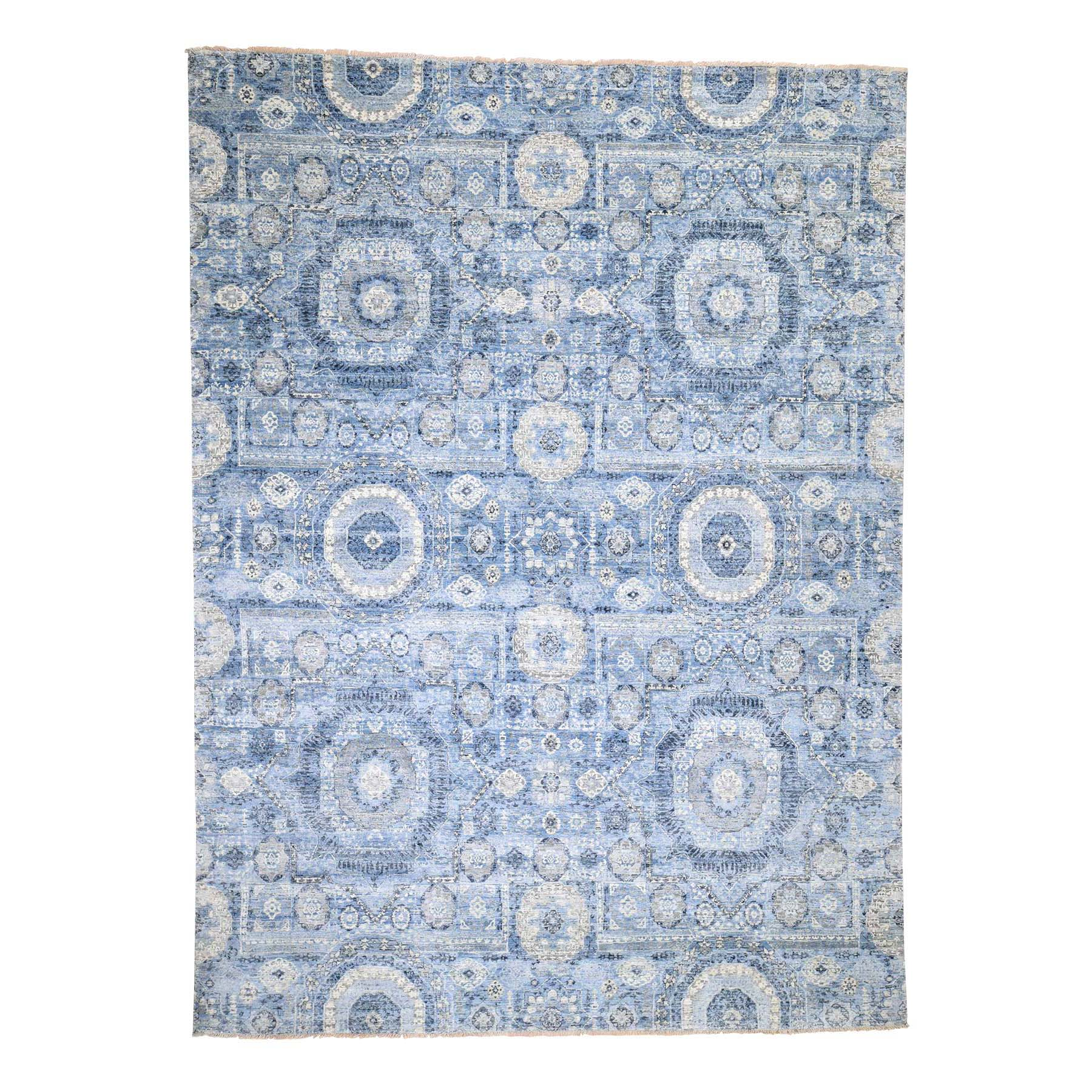 Real Silk Collection Hand Knotted Blue Rug No: 0186426