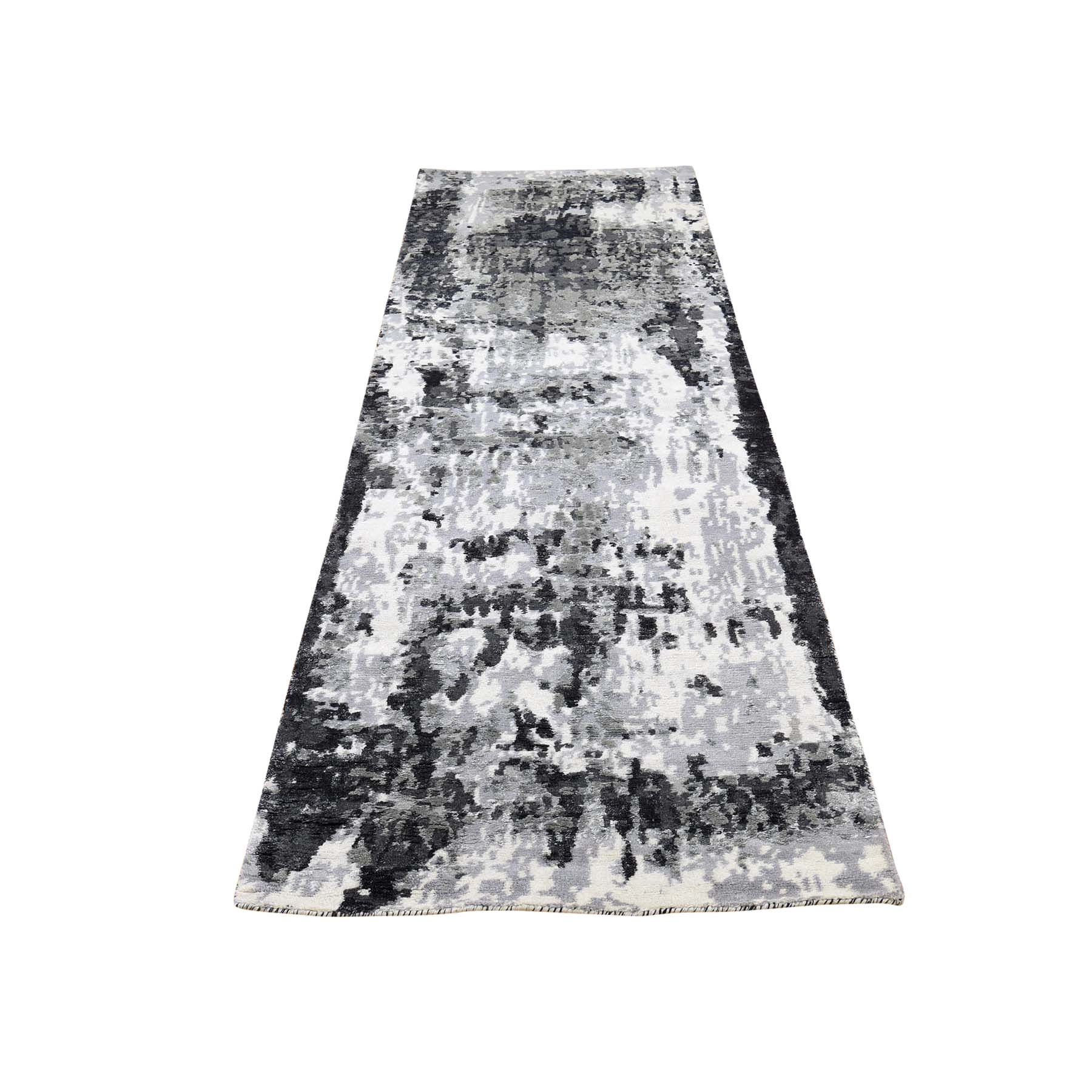 Mid Century Modern Collection Hand Knotted Ivory Rug No: 0186486