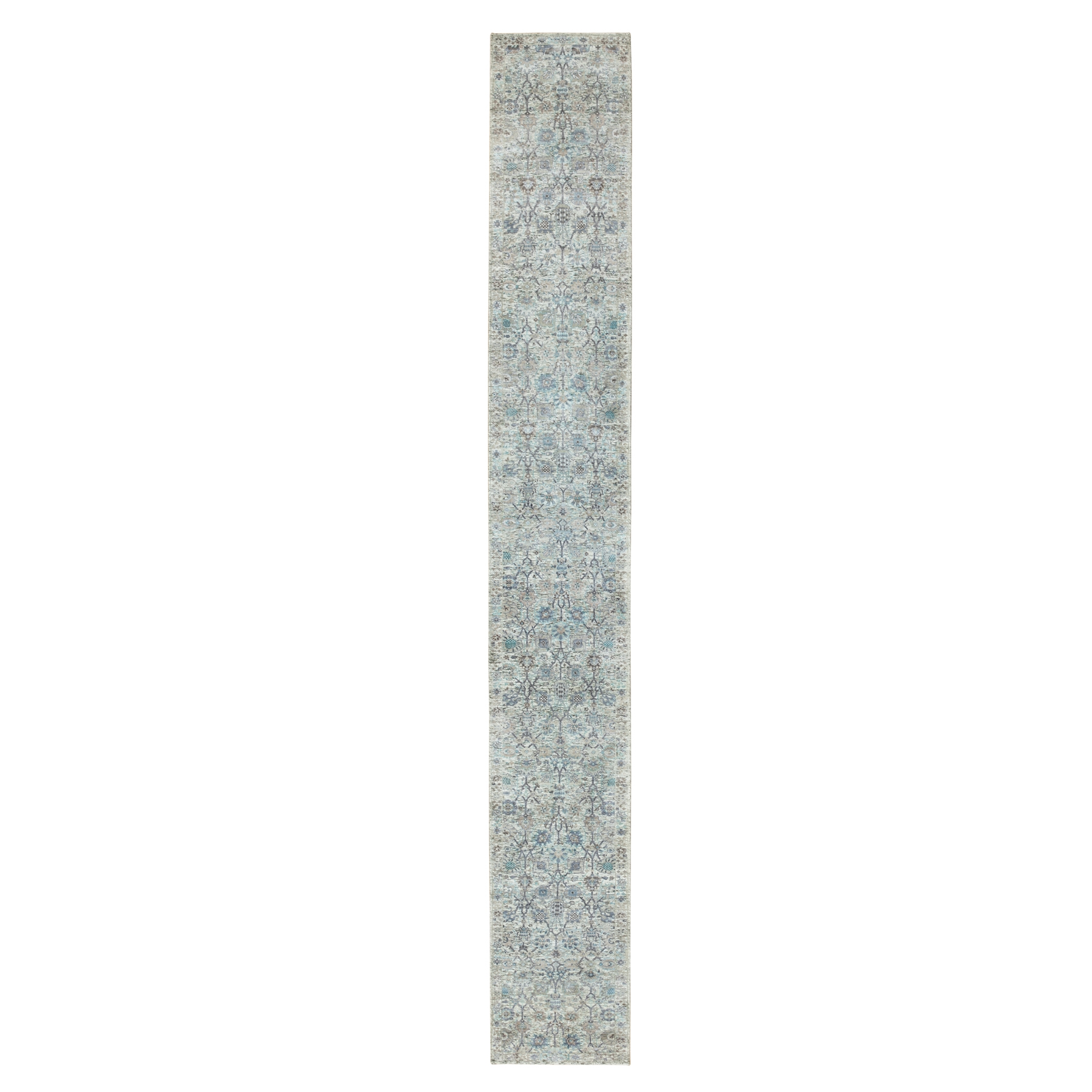 Transitional Hand Knotted Ivory Rug No: 1117892