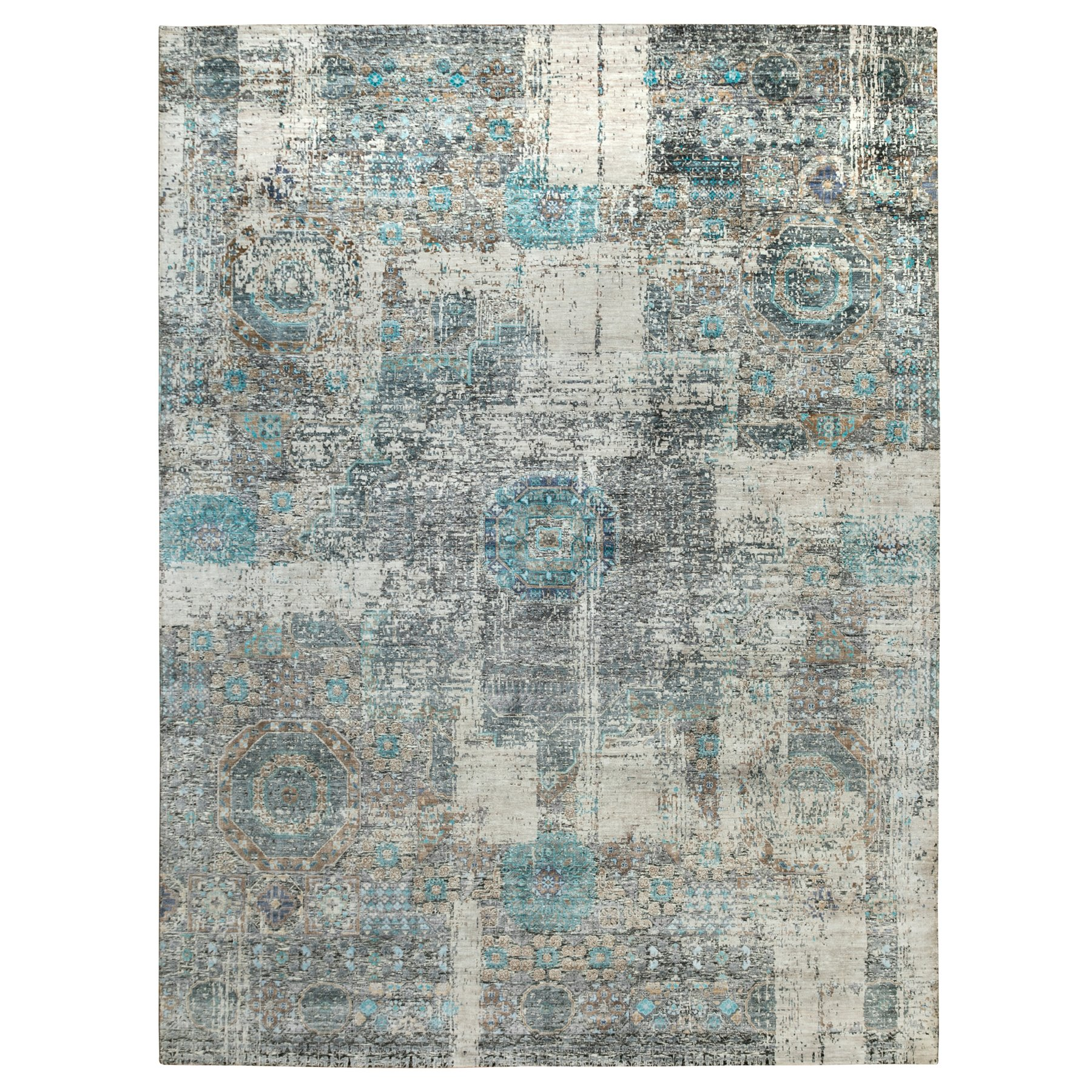 Intricate Collection Hand Knotted Grey Rug No: 1117948